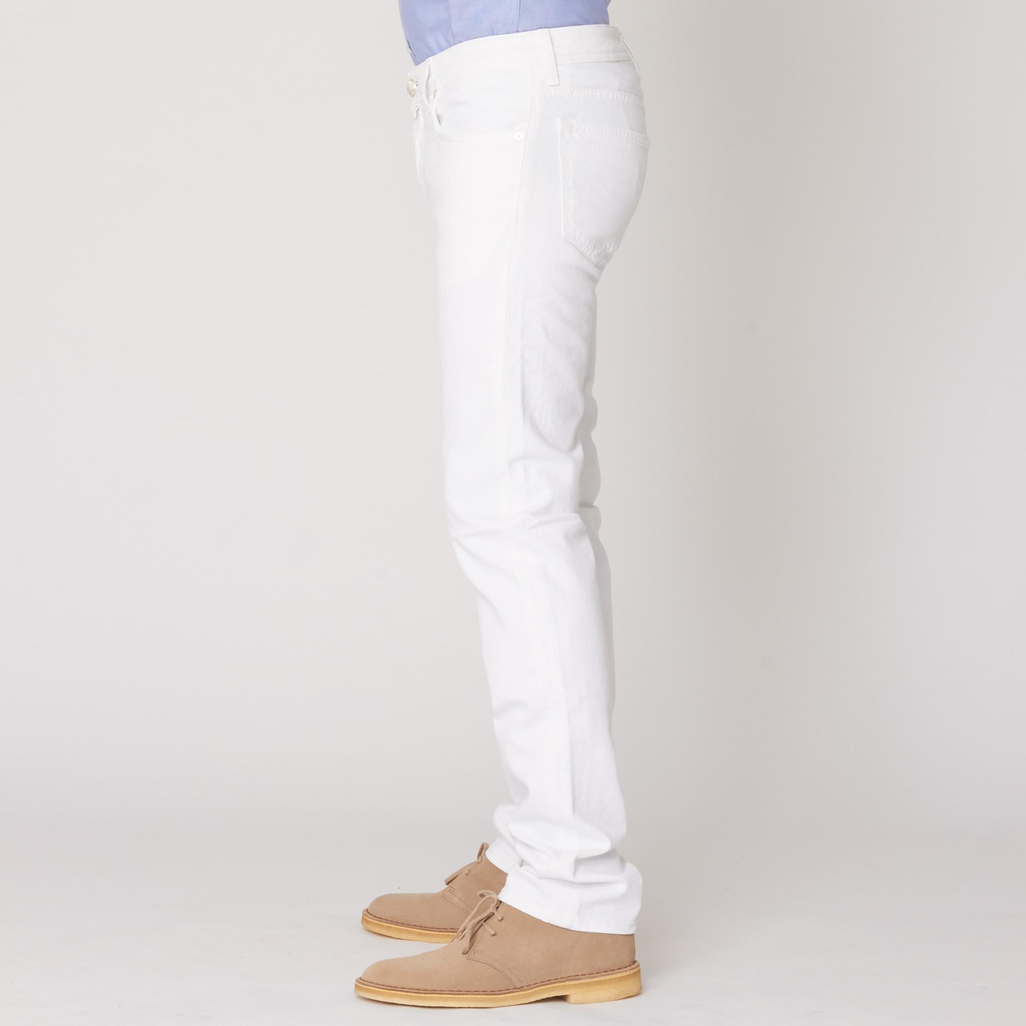 Jacob Cohen Pw622 White Denim Jeans