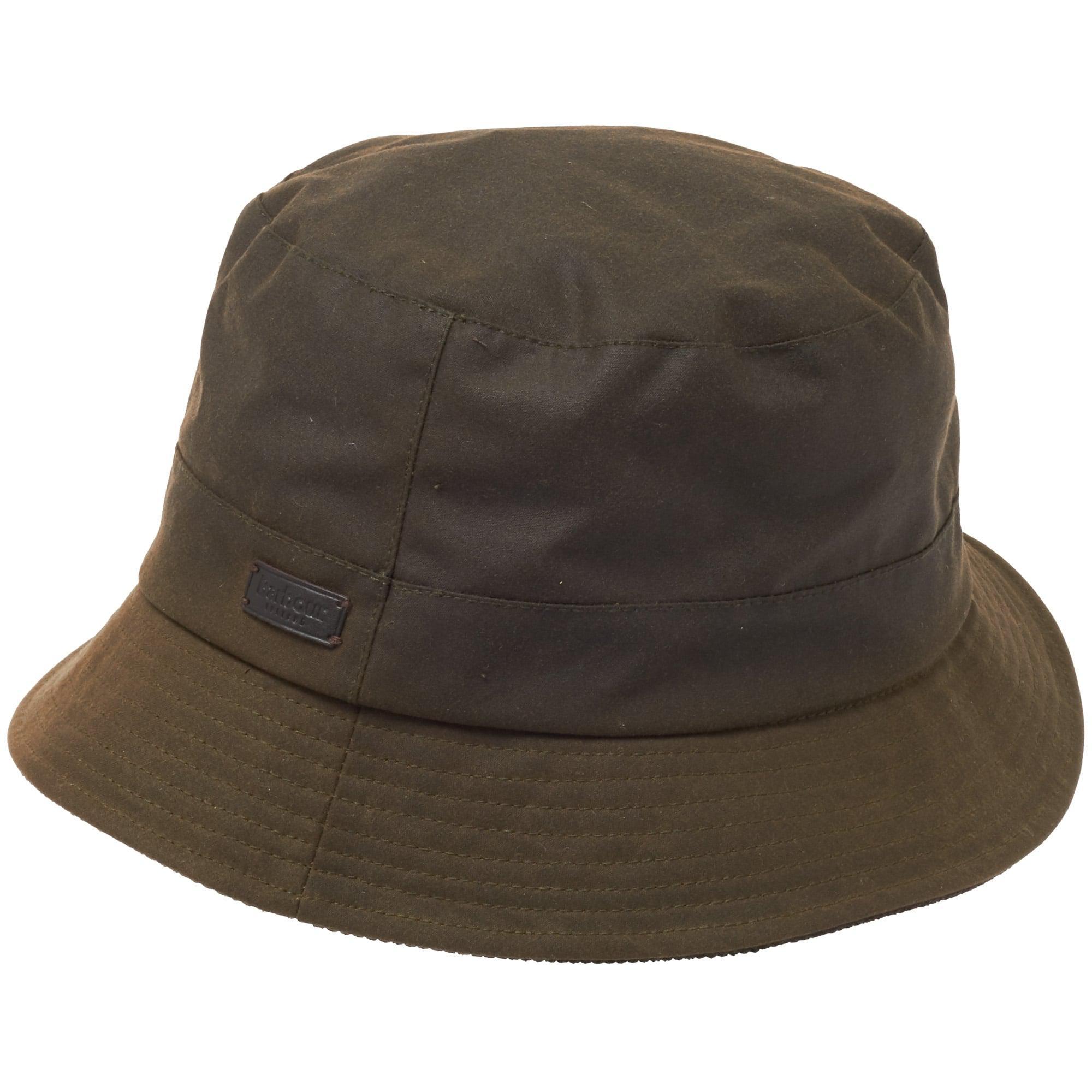 025f8138e9b Lyst - Barbour Devon Sports Waxed Cotton Bucket Hat in Green for Men