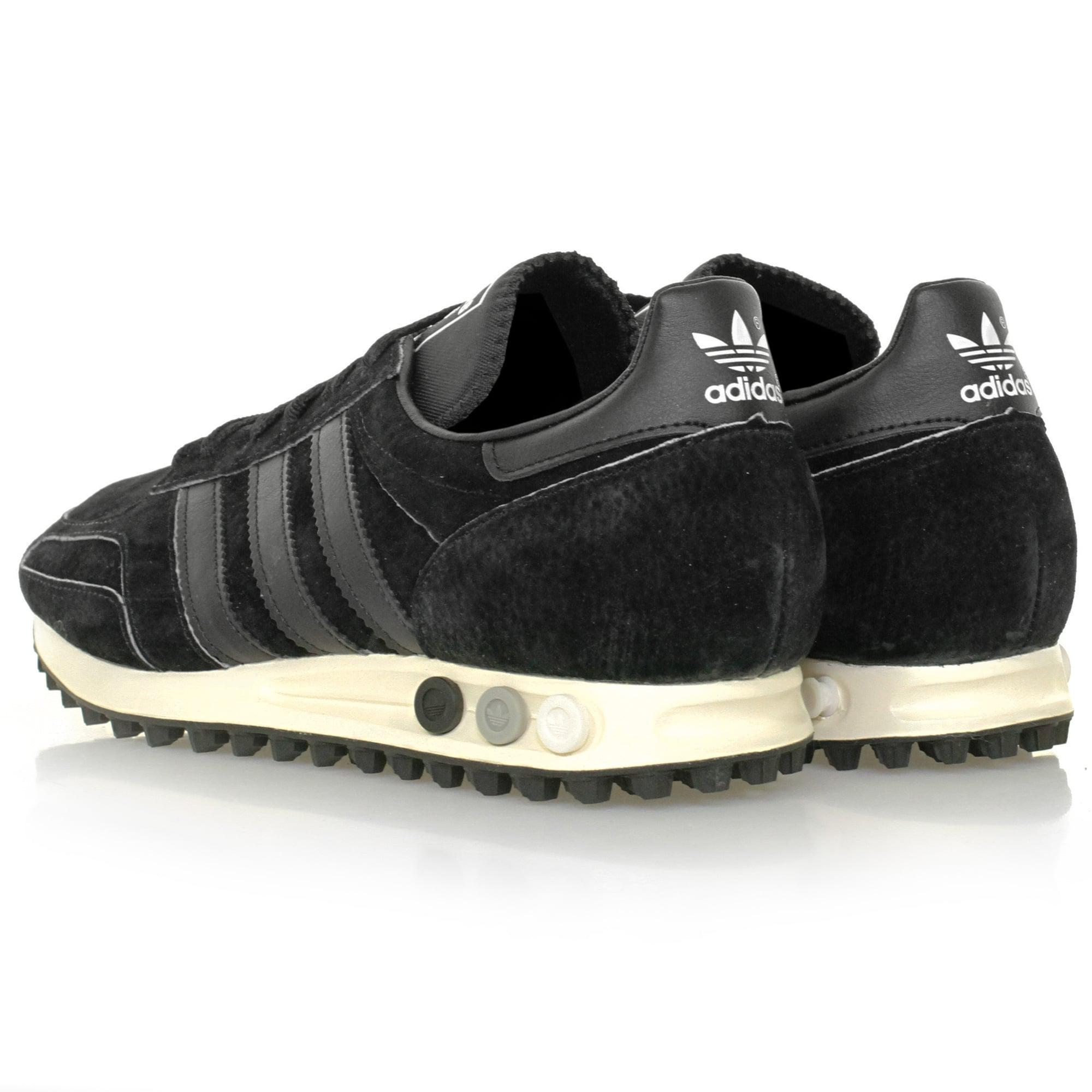adidas Originals Suede La Trainer Og Black Shoe for Men