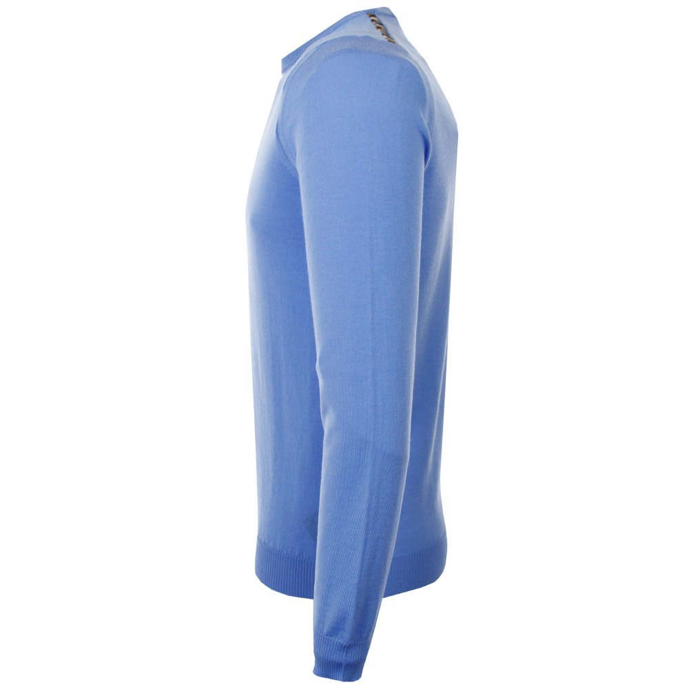 Aquascutum Wool Rolfe Blue Jumper for Men