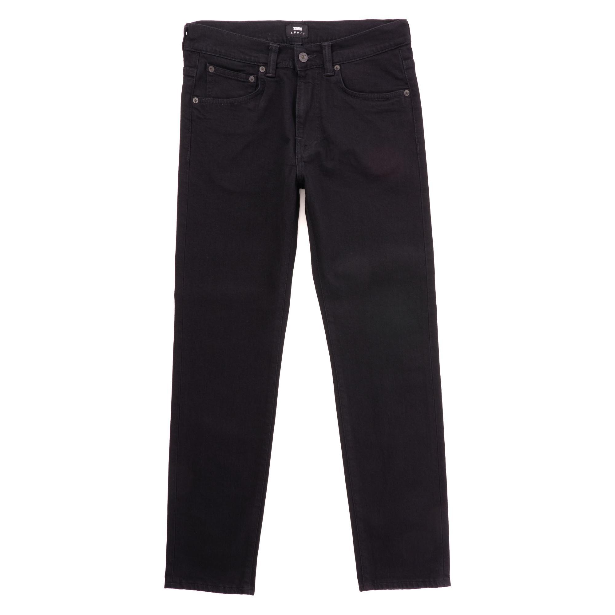 664e708d19a6 Edwin - Ed-80 Slim Tapered Jeans - Cs Power Black Denim for Men -. View  fullscreen