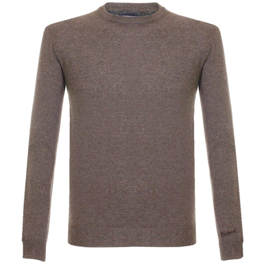Lyst woolrich super geelong crew neck knitted brown