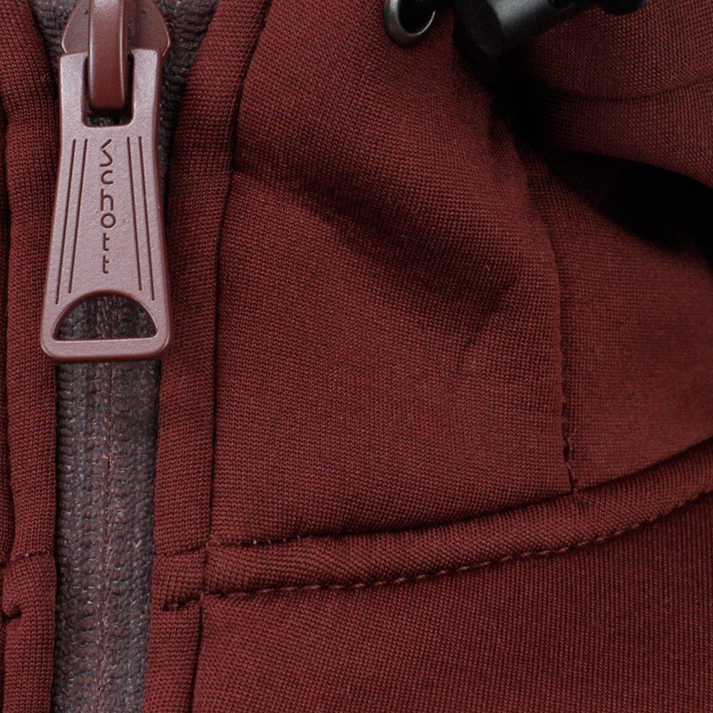 Schott Nyc Synthetic Sw Blade 2 Bordeaux Hooded Jacket in Brown for Men