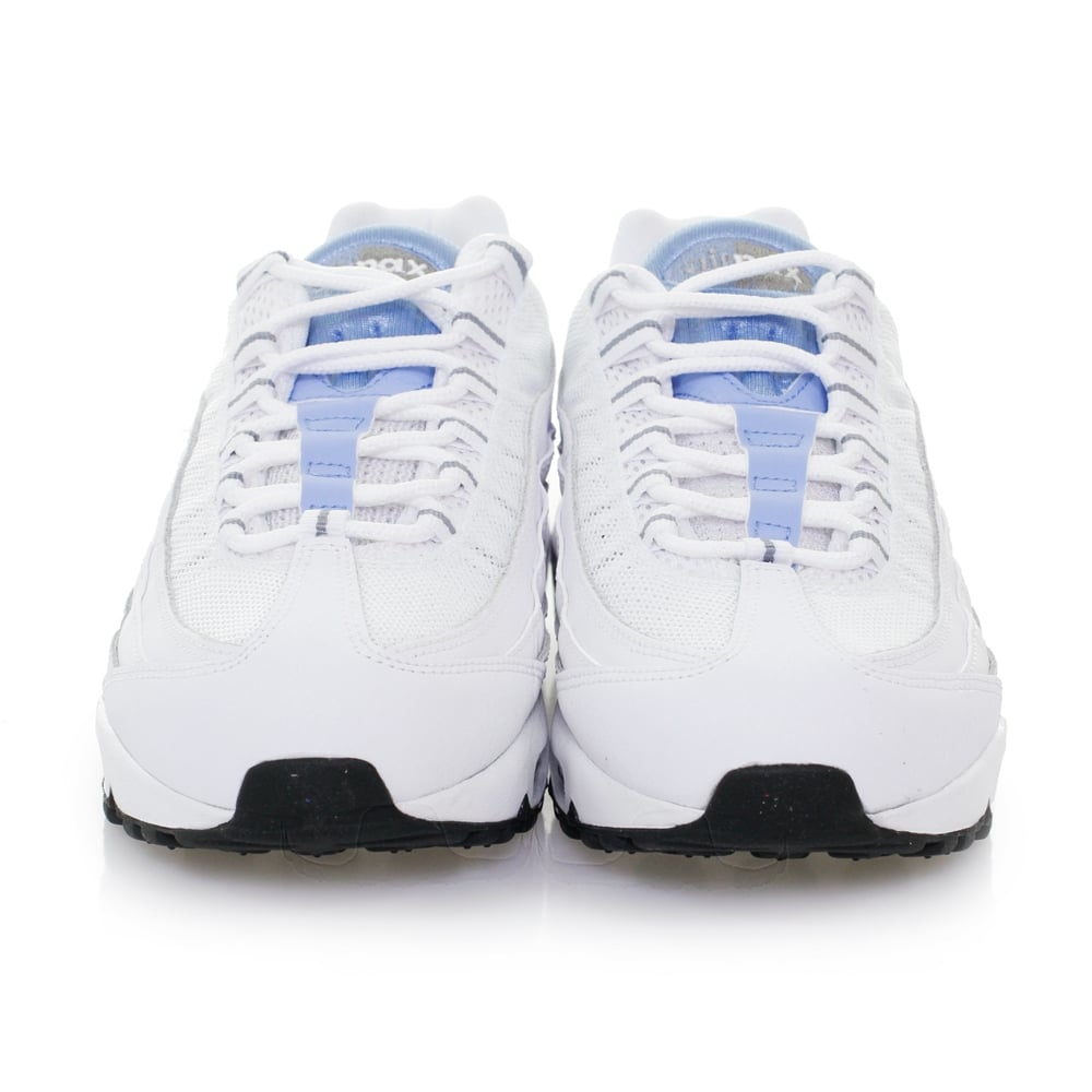Nike Rubber Air Max 95 Essential White Chalk Blue Shoes 749766 in White Blue (Brown) for Men