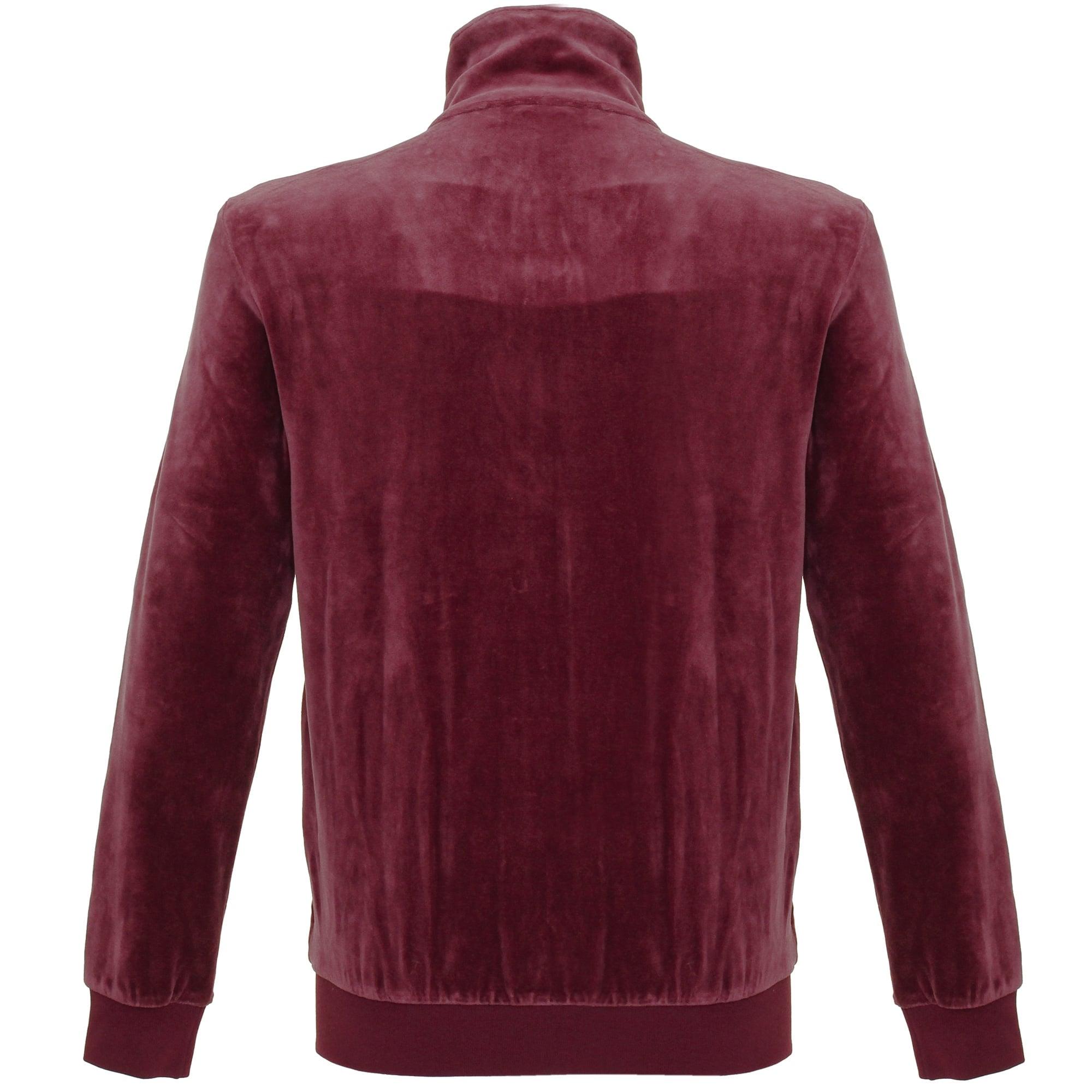 adidas Originals Cotton Beckenbauer Velour Maroon Track Jacket for Men