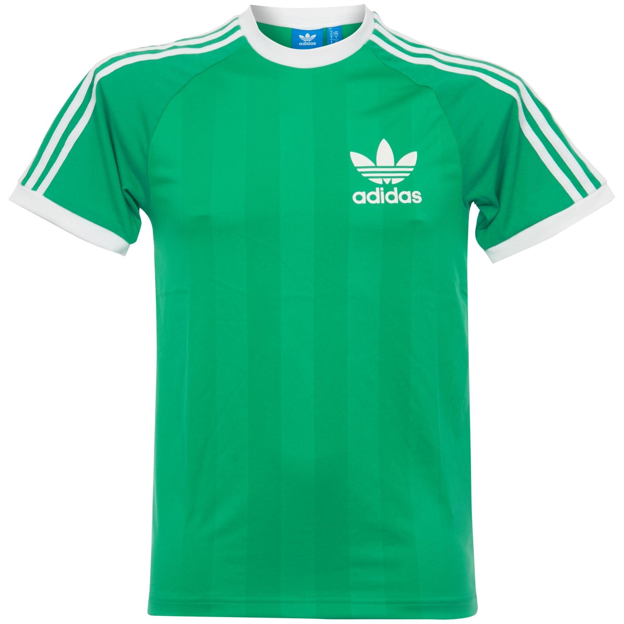 lyst adidas originals adidas clfn tee green t shirt in green for men. Black Bedroom Furniture Sets. Home Design Ideas