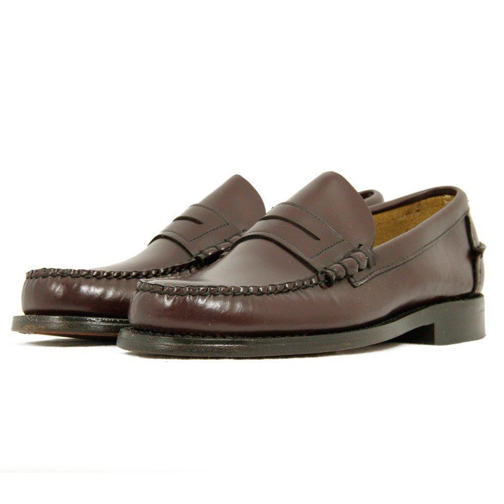 Sebago Leather Penny Loafer Burgundy Shoe for Men - Lyst