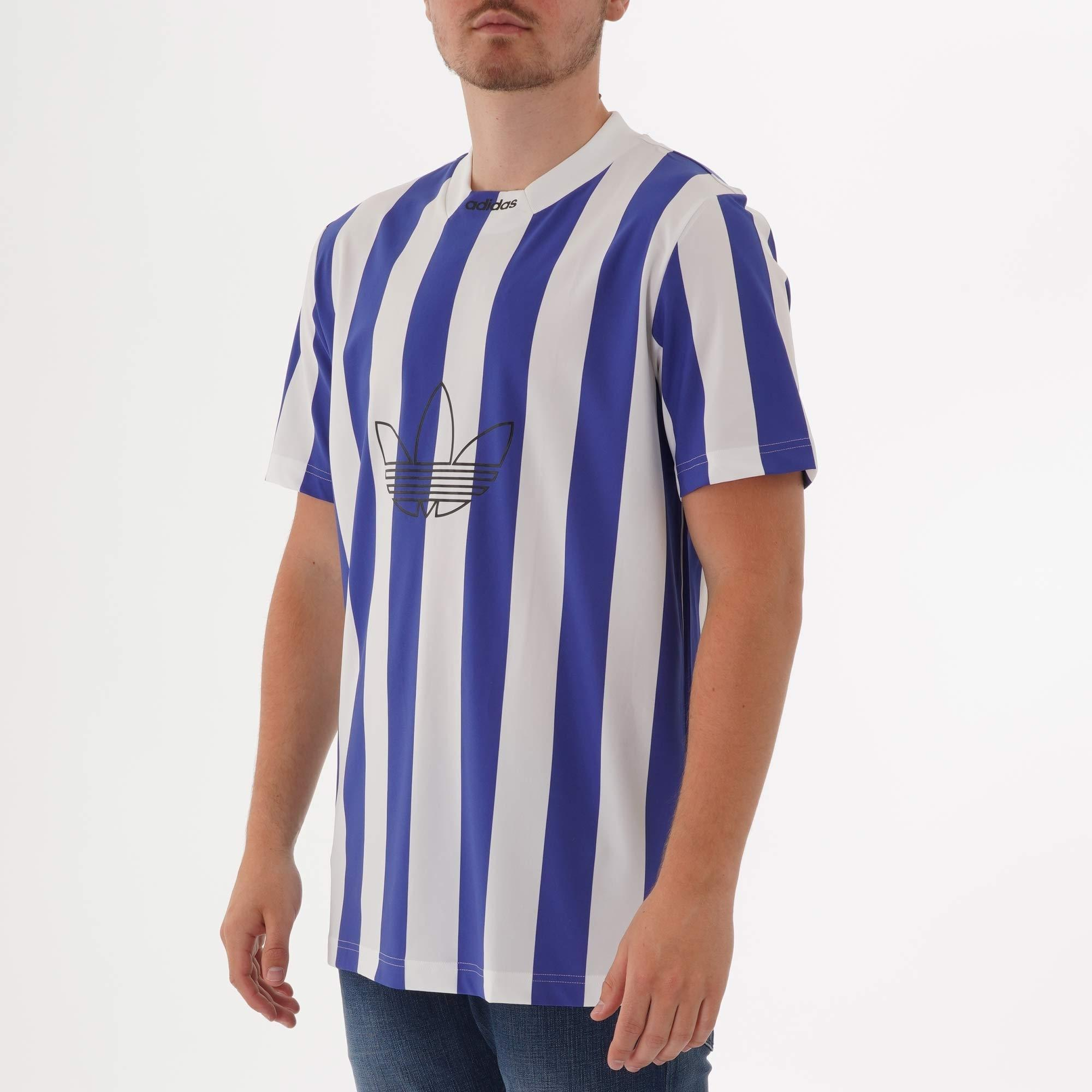 adidas Originals Synthetic Stripes Jersey T-shirt in Blue for Men ...
