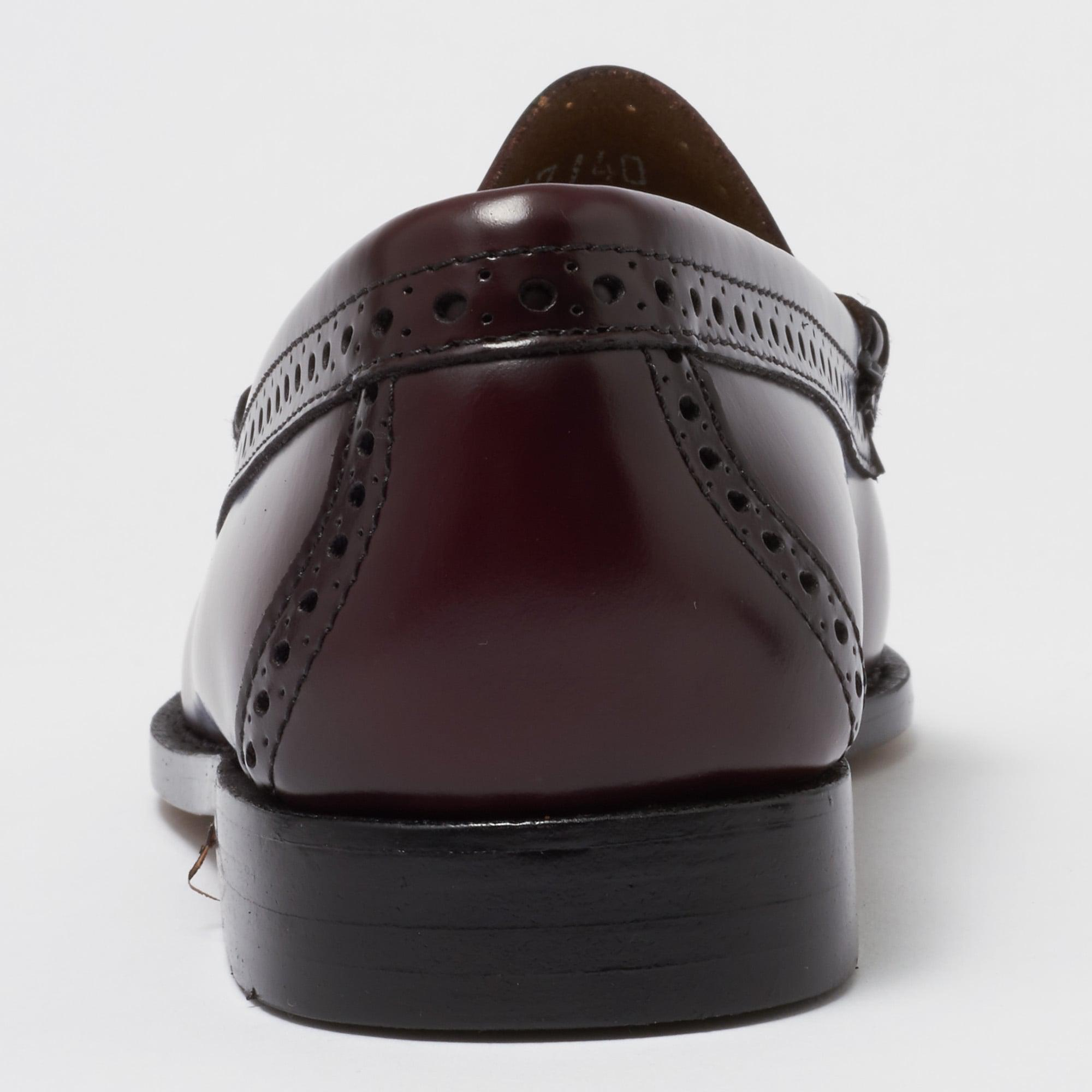 G.H.BASS Leather Larkin Brogue Tassel Loafers - Wine in Brown for Men
