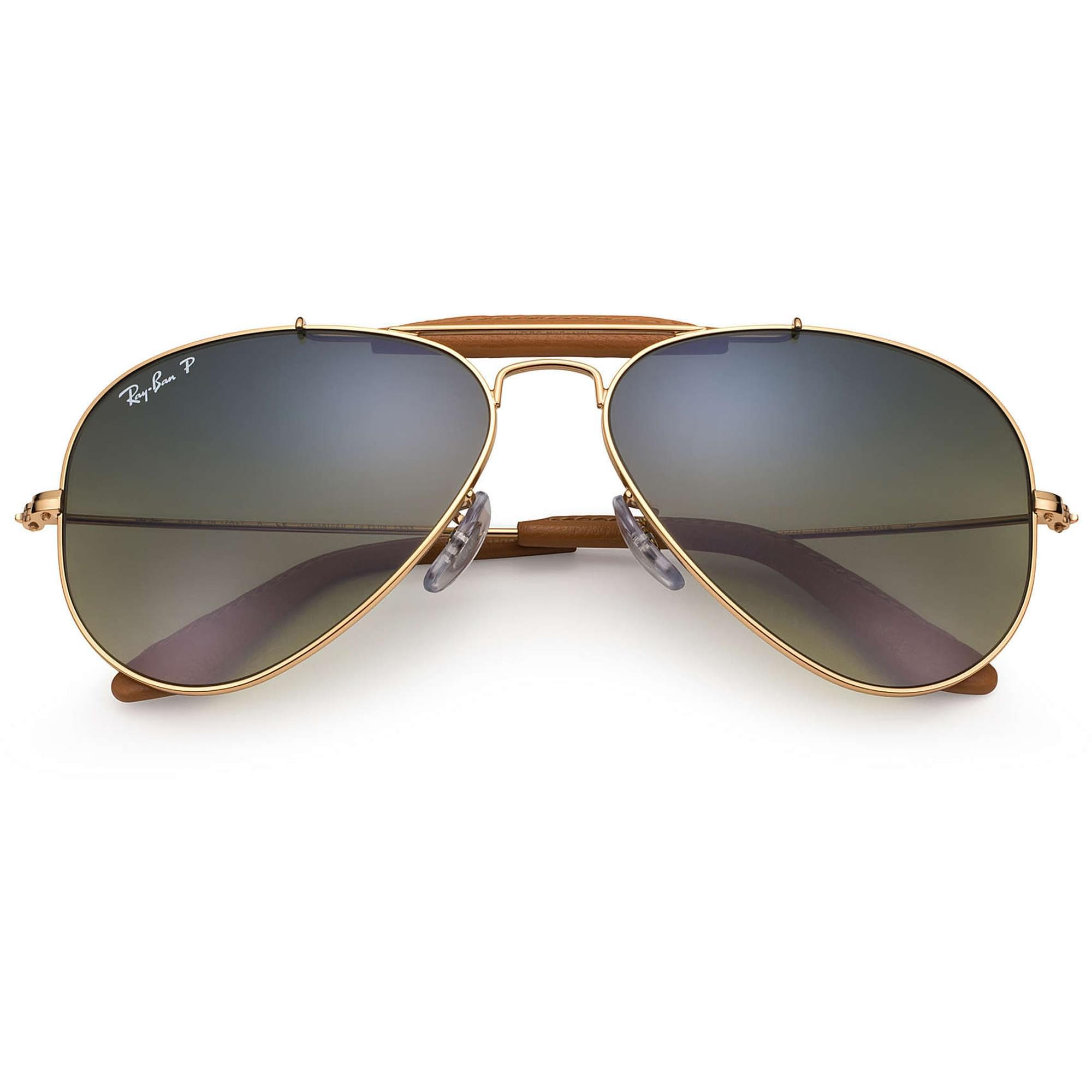 03f8b28ad6 Ray-Ban - Metallic Gold Outdoorsman Craft Aviator Sunglasses - Green  Classic G-15. View fullscreen