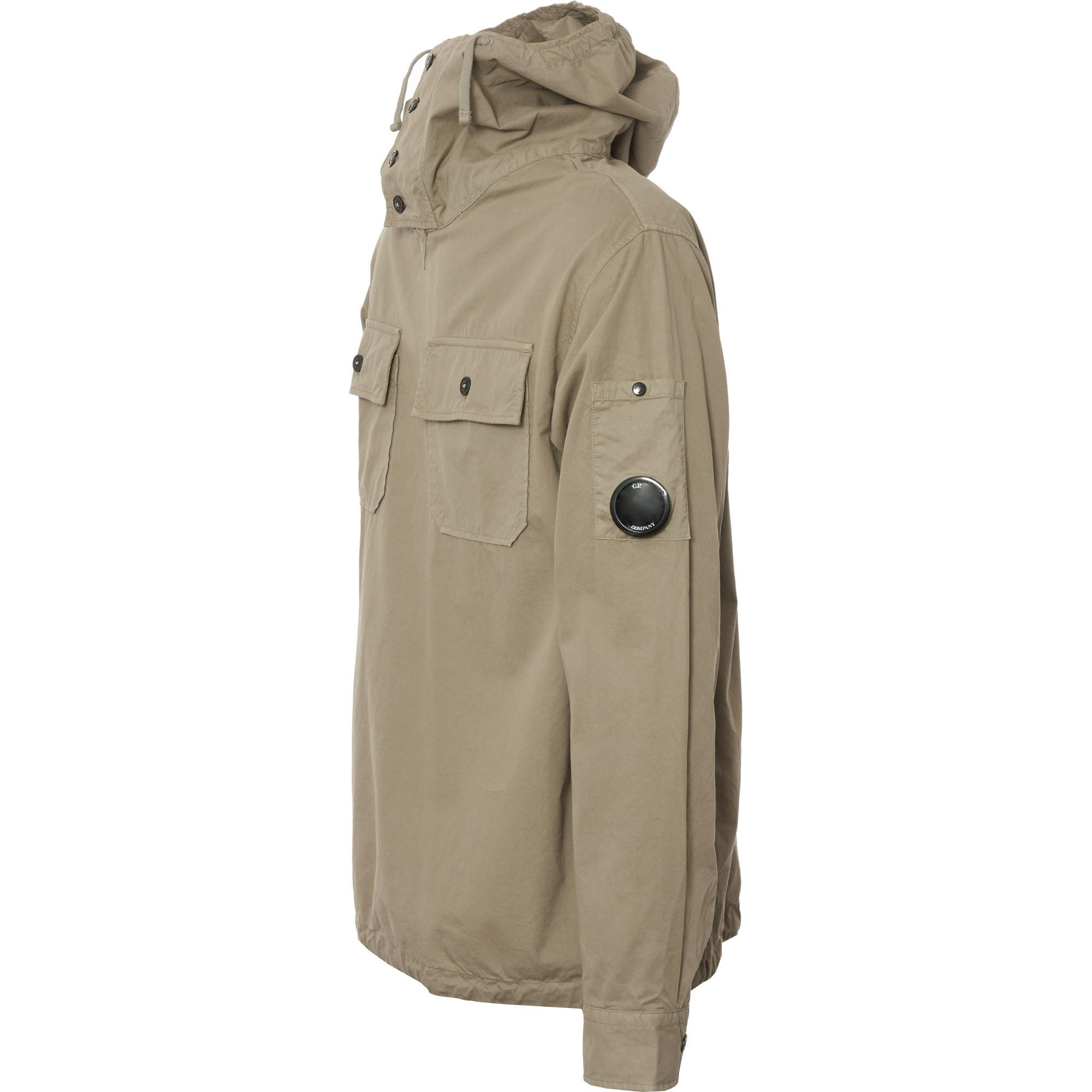 C P Company Synthetic Hooded Overshirt - Light Olive in Green for Men
