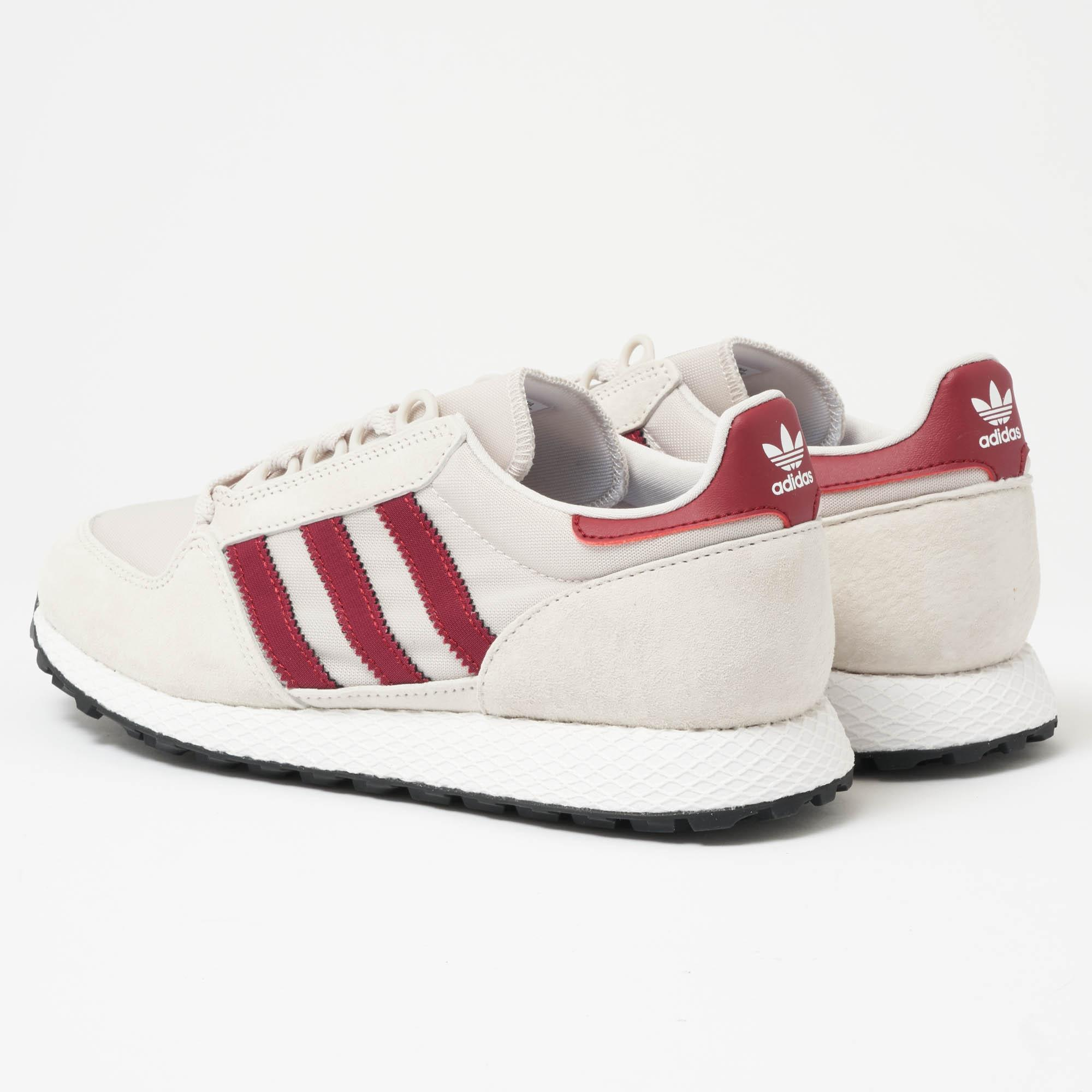 adidas Originals FOREST GROVE - Trainers - chalk pearl/footwear white/core black LZedxG