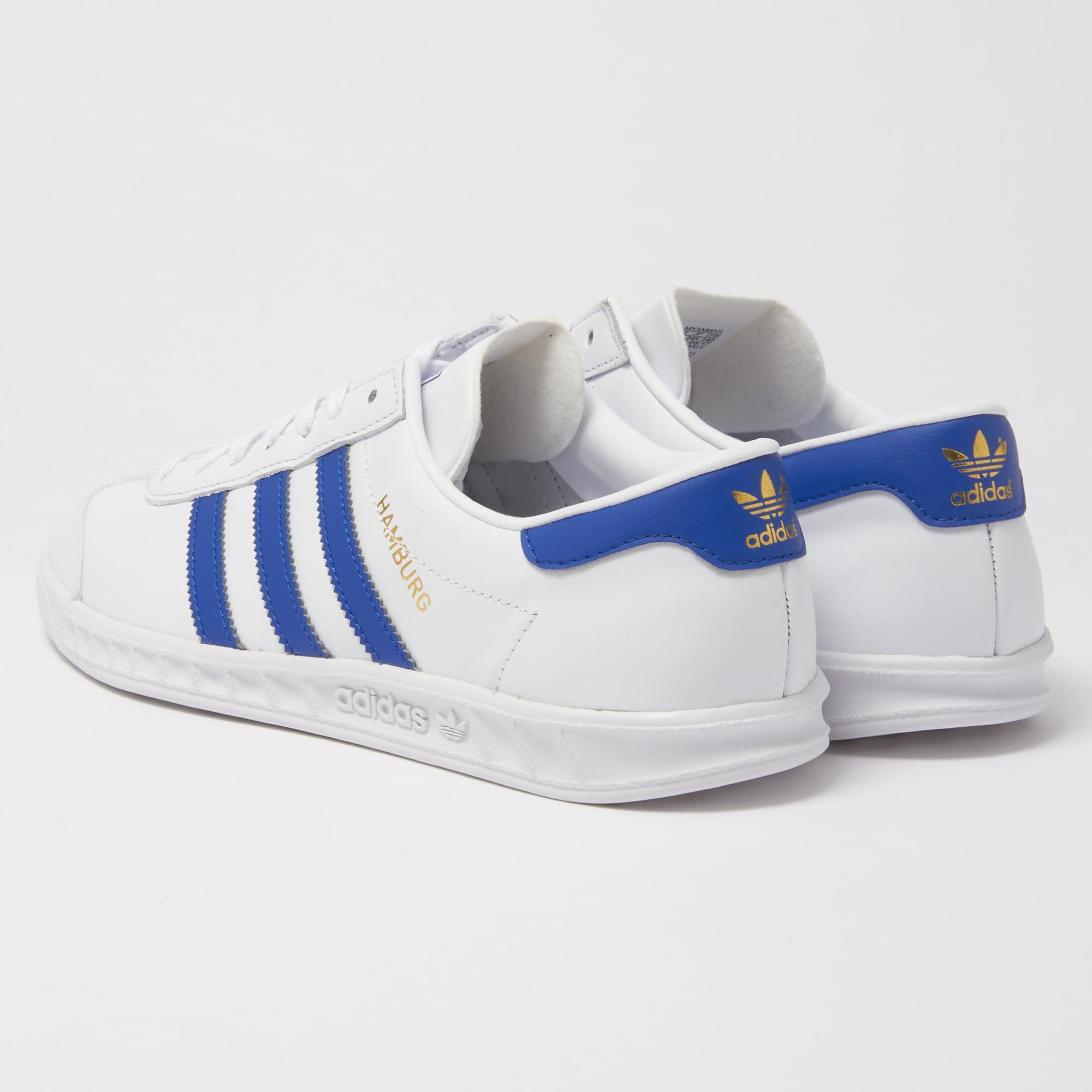 adidas hamburg white and blue buy clothes shoes online