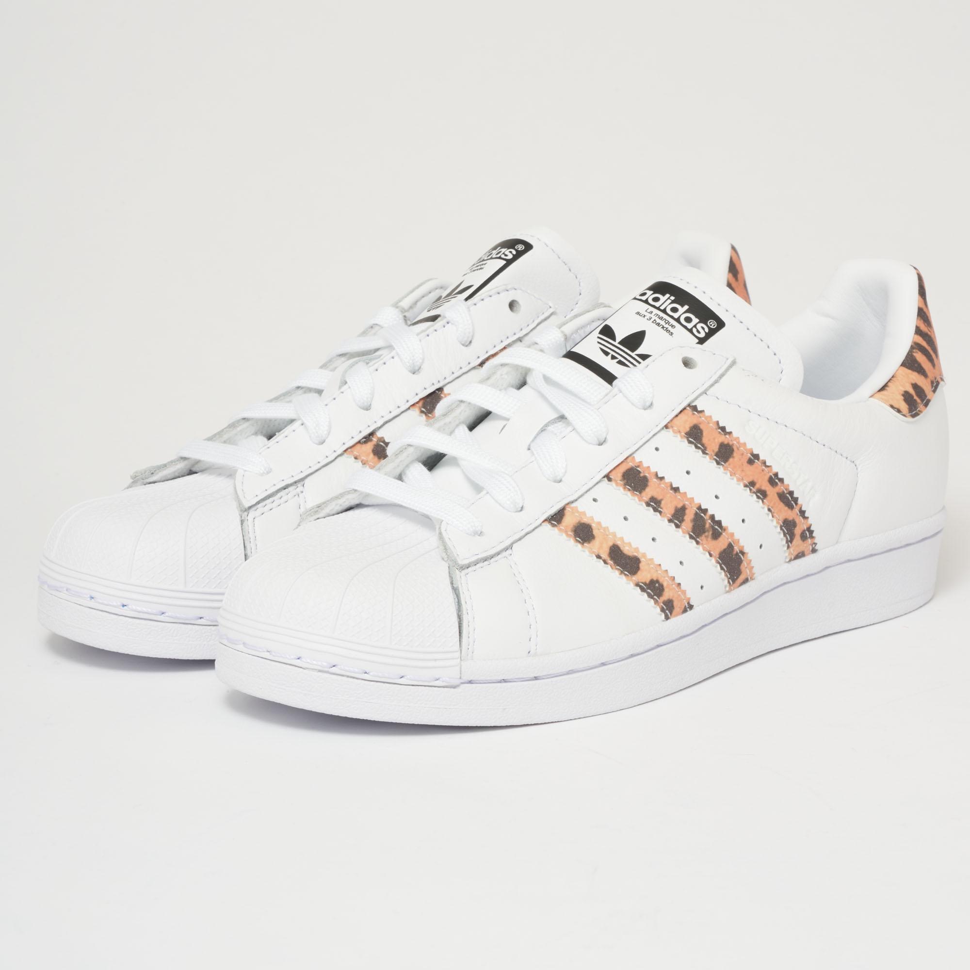 Adidas Originals Superstar White & Tiger Print