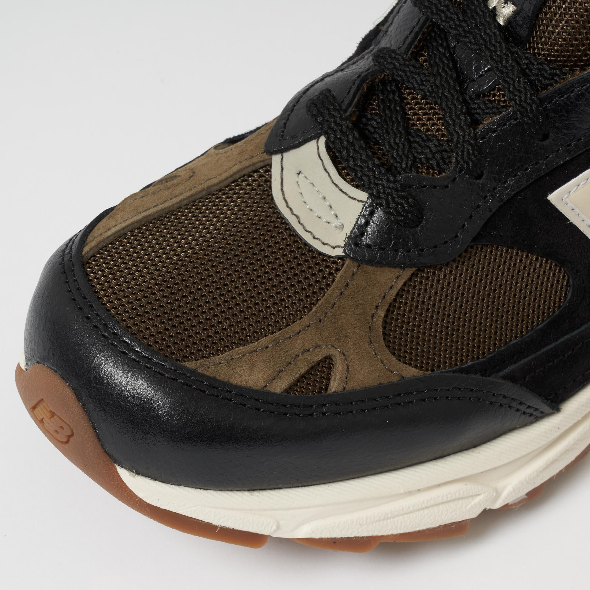 super popular 81bfe 05f78 New Balance M991.9 Made In England - Black & Olive in Brown for Men ...