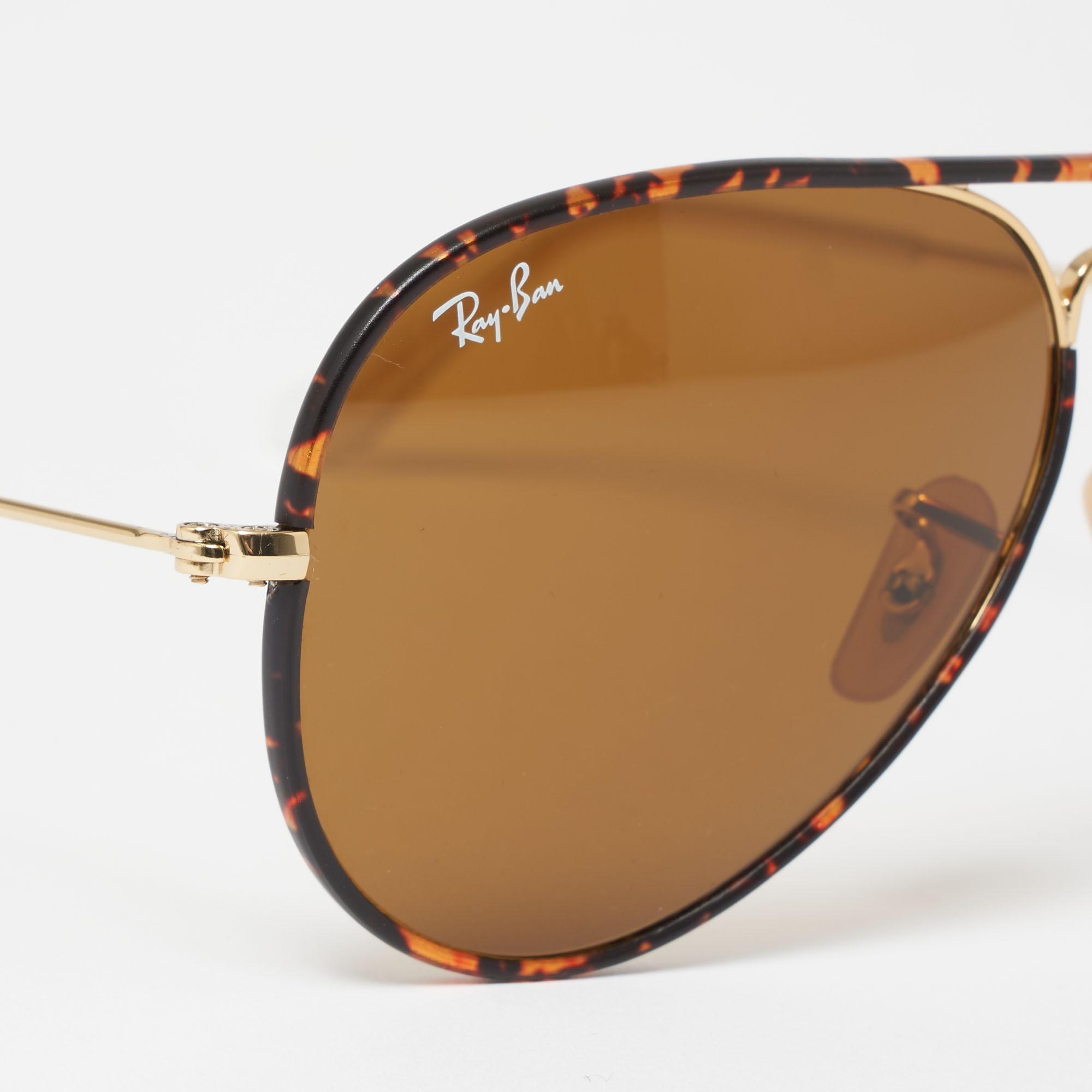 13eaba7415d8b Ray-Ban - Multicolor Tortoise Aviator Full Colour Sunglasses - Brown  Classic B-15. View fullscreen