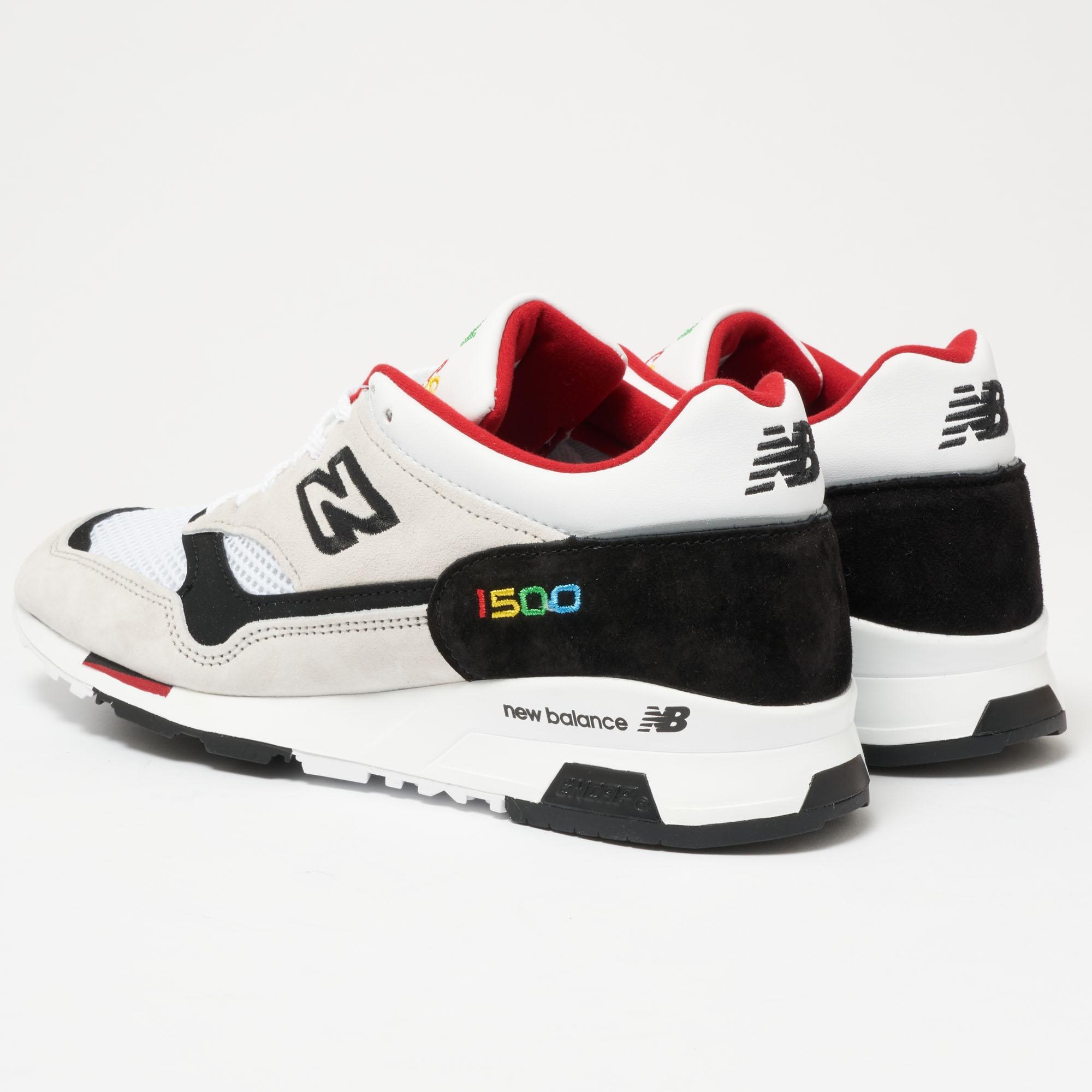 New Balance Color Prisma Made in UK 1500 Weiß Schwarz Schuhe