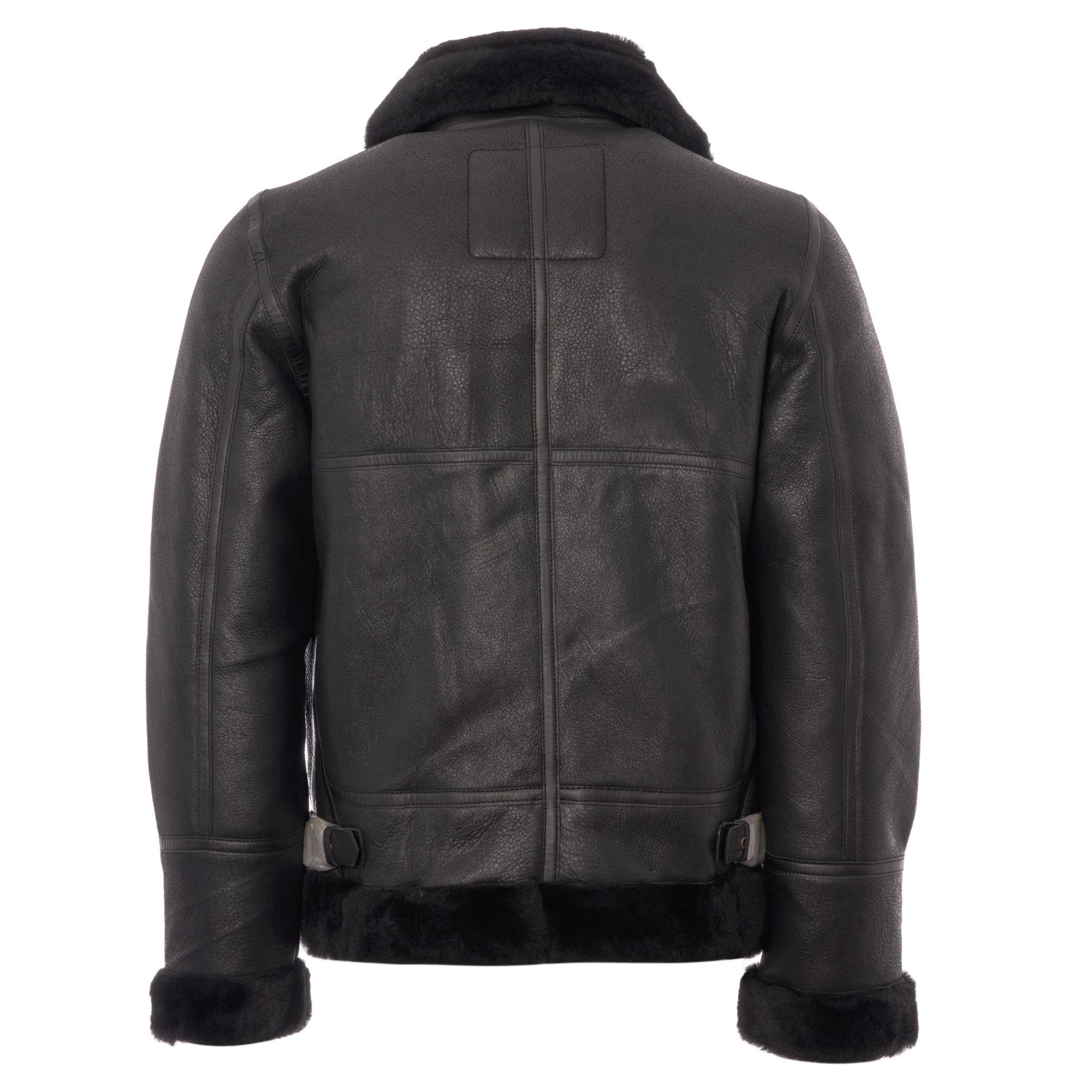 46ca3d163 Men's Lc1259 Bombardier Leather Flying Jacket - Black