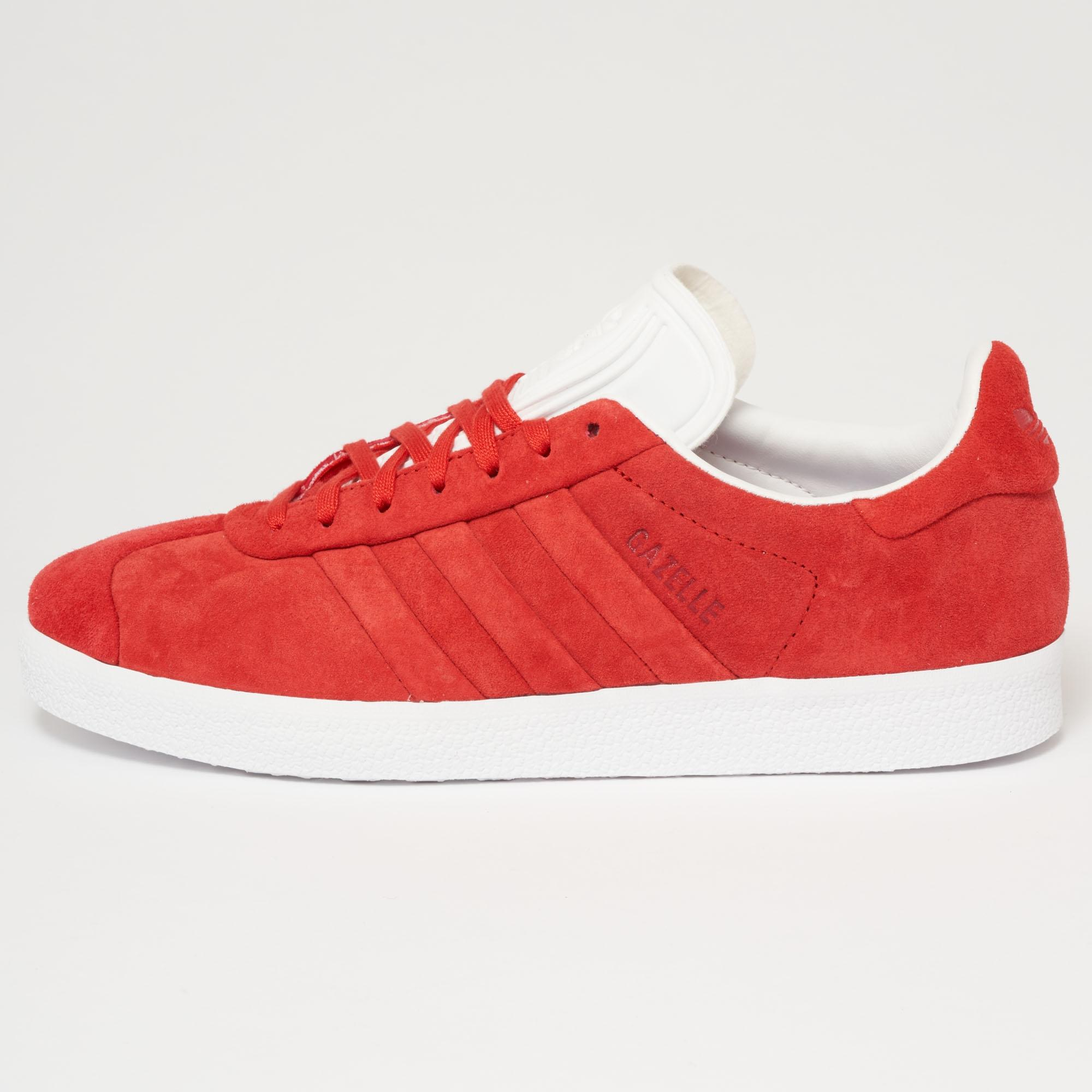 Lyst adidas Originals Gazelle puntada y vuelta Collegiate Rojo en rojo