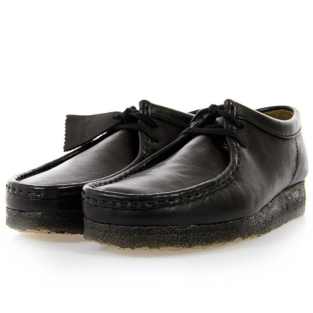 4fa7218b Clarks Wallabee Black Leather Shoes for men