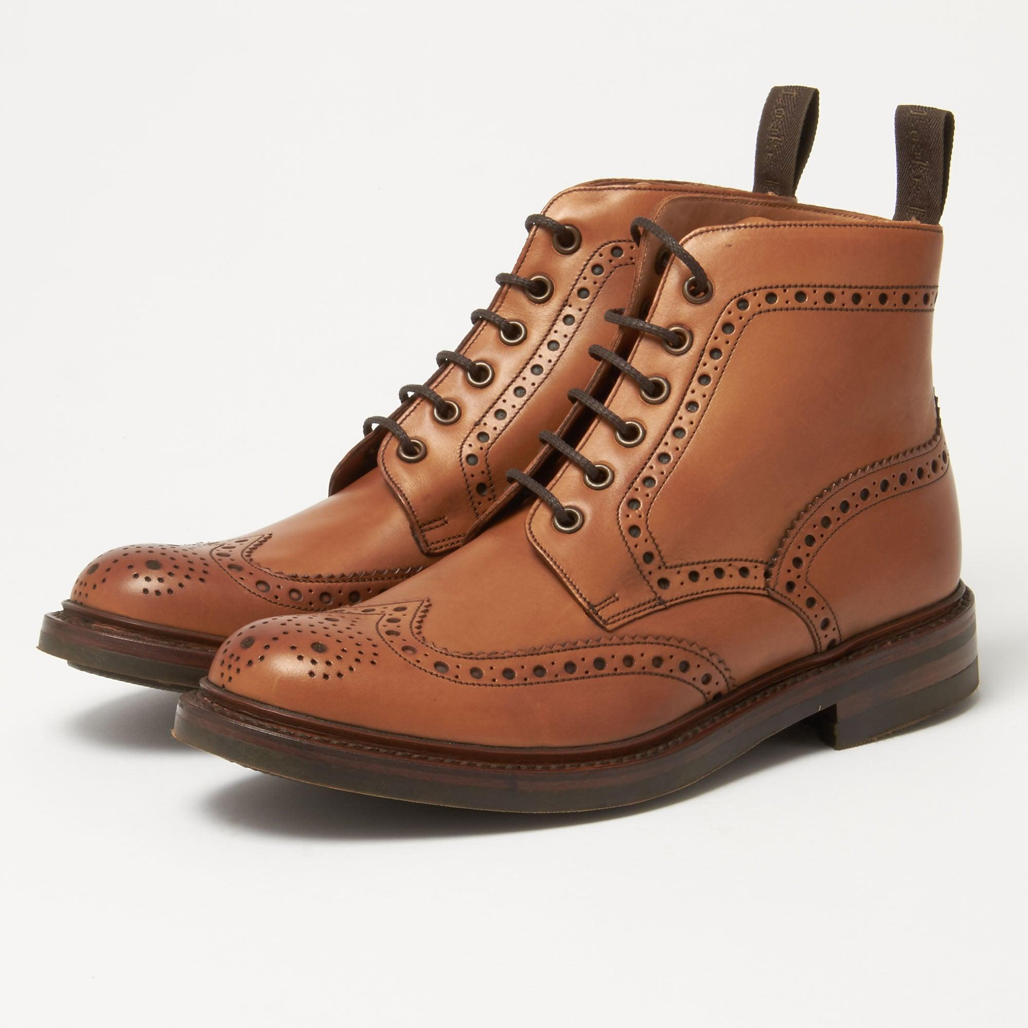 Sharp - Shop our mens brogue boots in dark brown handpainted leather with a rubber dainite sole. Sharp is a fully lined English brogue with a double sole. Free worldwide returns.