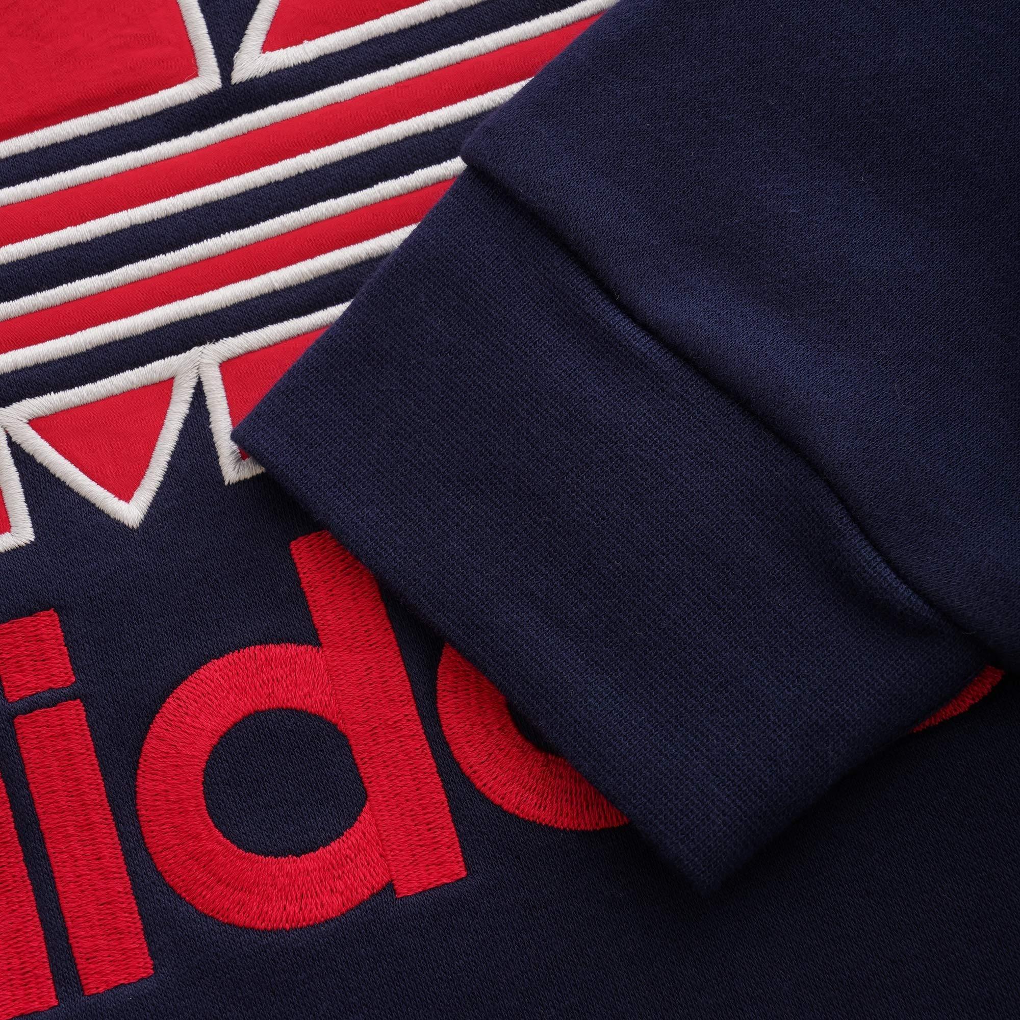 Lyst - adidas Originals Trefoil Crewneck Sweatshirt - Navy in Blue ... 6201246a4c2