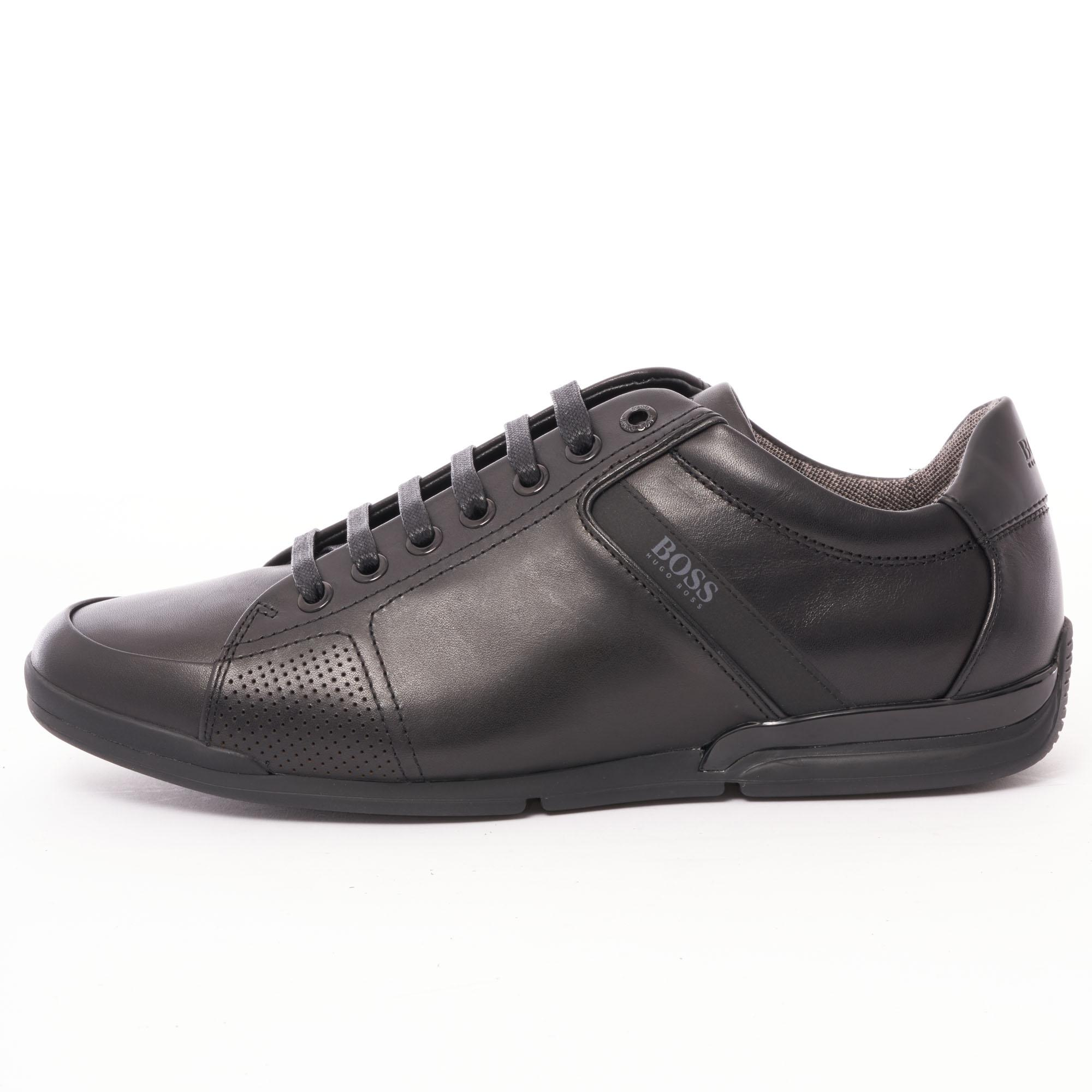8c20466b99 BOSS - Saturn Low Lux 4 Sneakers - Black for Men - Lyst. View fullscreen