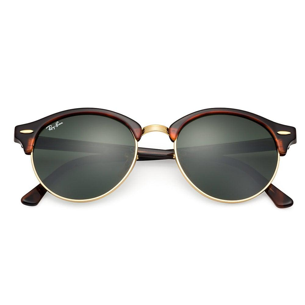 f187ac3a77 Ray-Ban - Multicolor Tortoise Clubround Classic Sunglasses - Green Classic  G-15 Lenses. View fullscreen