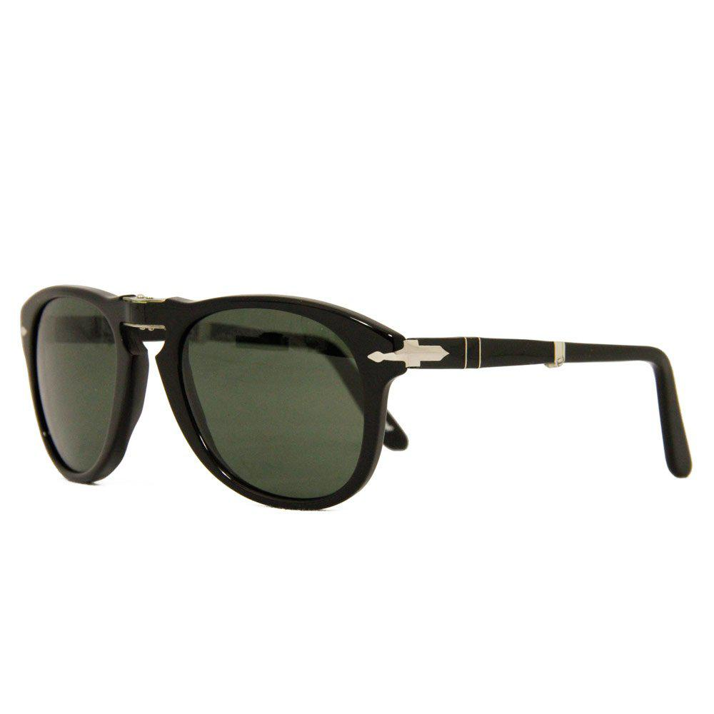 4a5670b76e Persol 714 Foldable Black Sunglasses 95  in Black for Men - Save ...