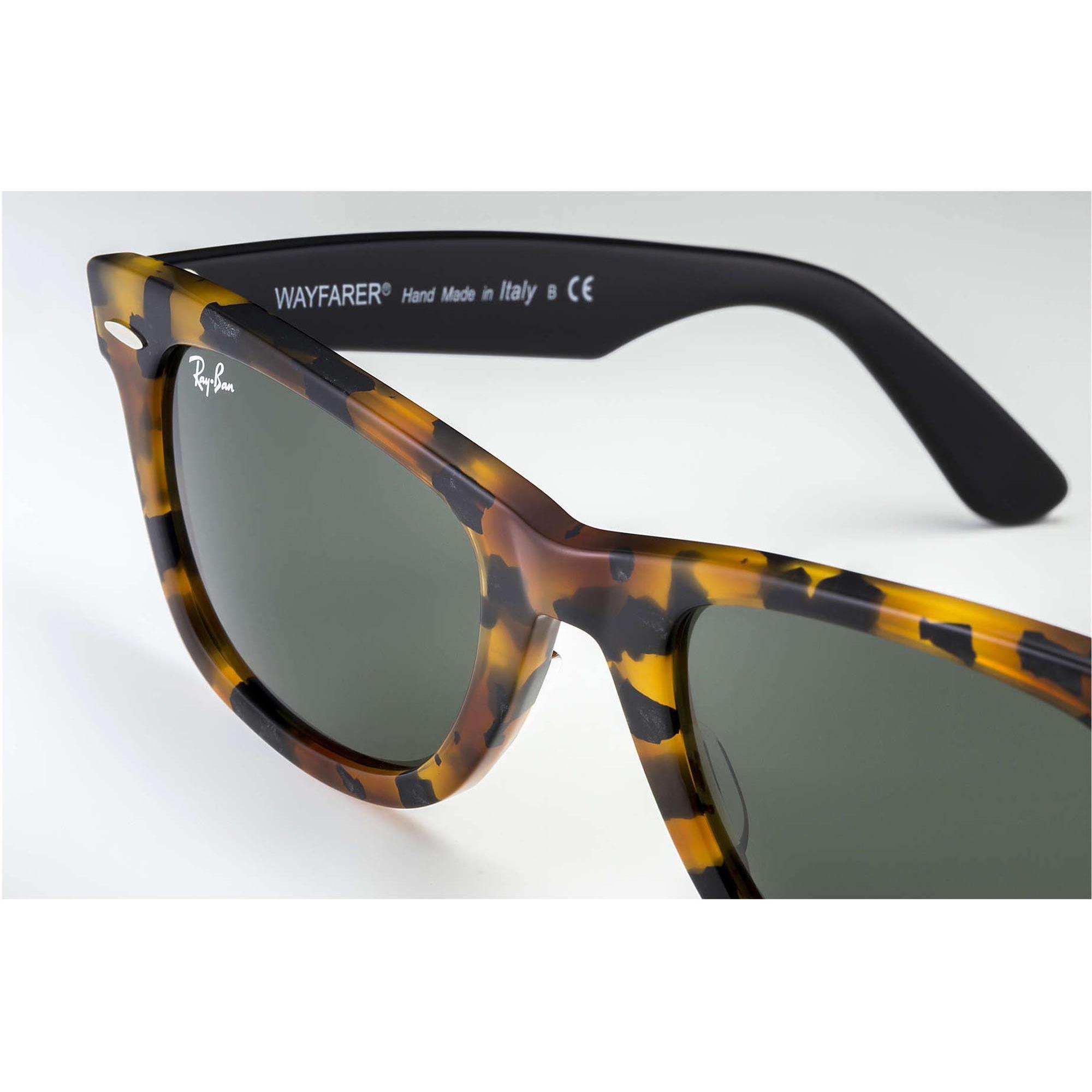e814aec776 Ray-Ban Tortoise Original Wayfarer Fleck Sunglasses - Green Classic ...