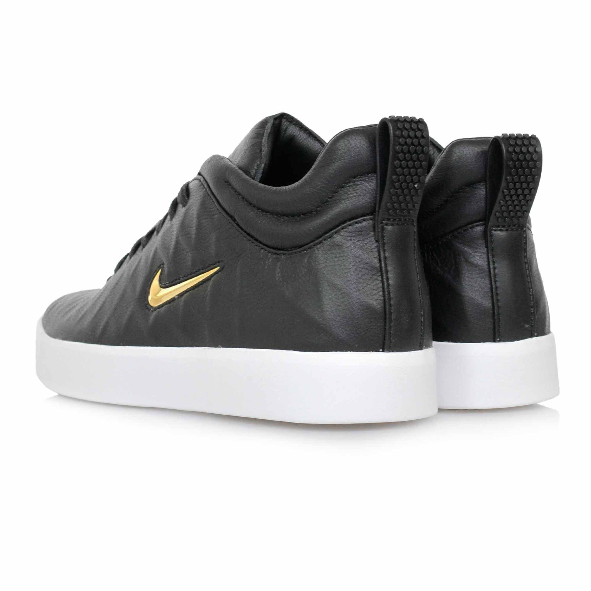 Goat Leather Nike Shoes Black And Gold