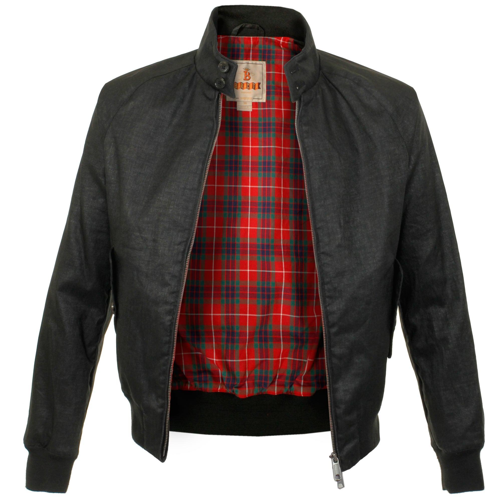 Baracuta G9 Linen Black Harrington Jacket for Men
