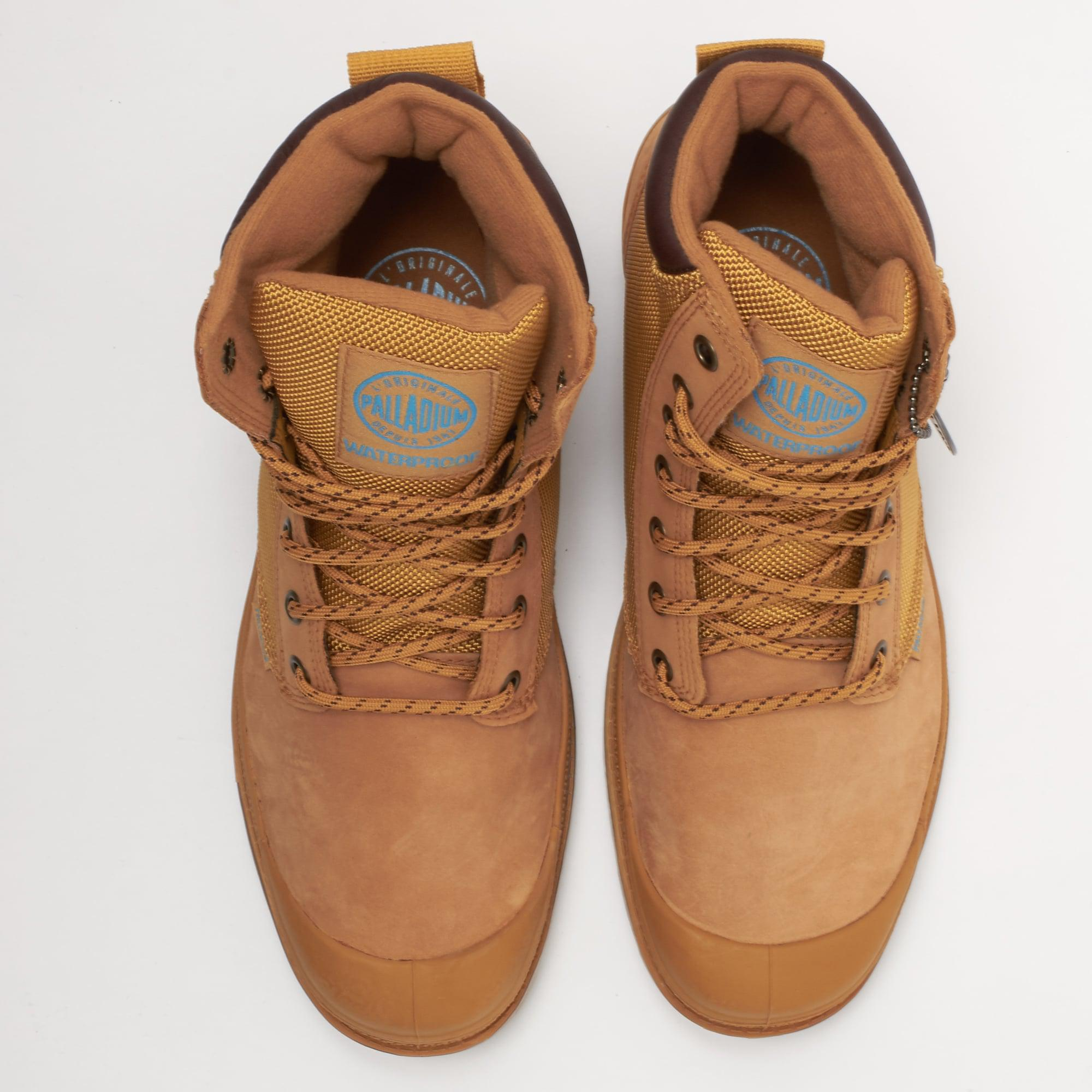 0984a9dddb3 Palladium Multicolor Amber Gold & Mid Gum Pampa Sport Cuff Wpn Boot for men