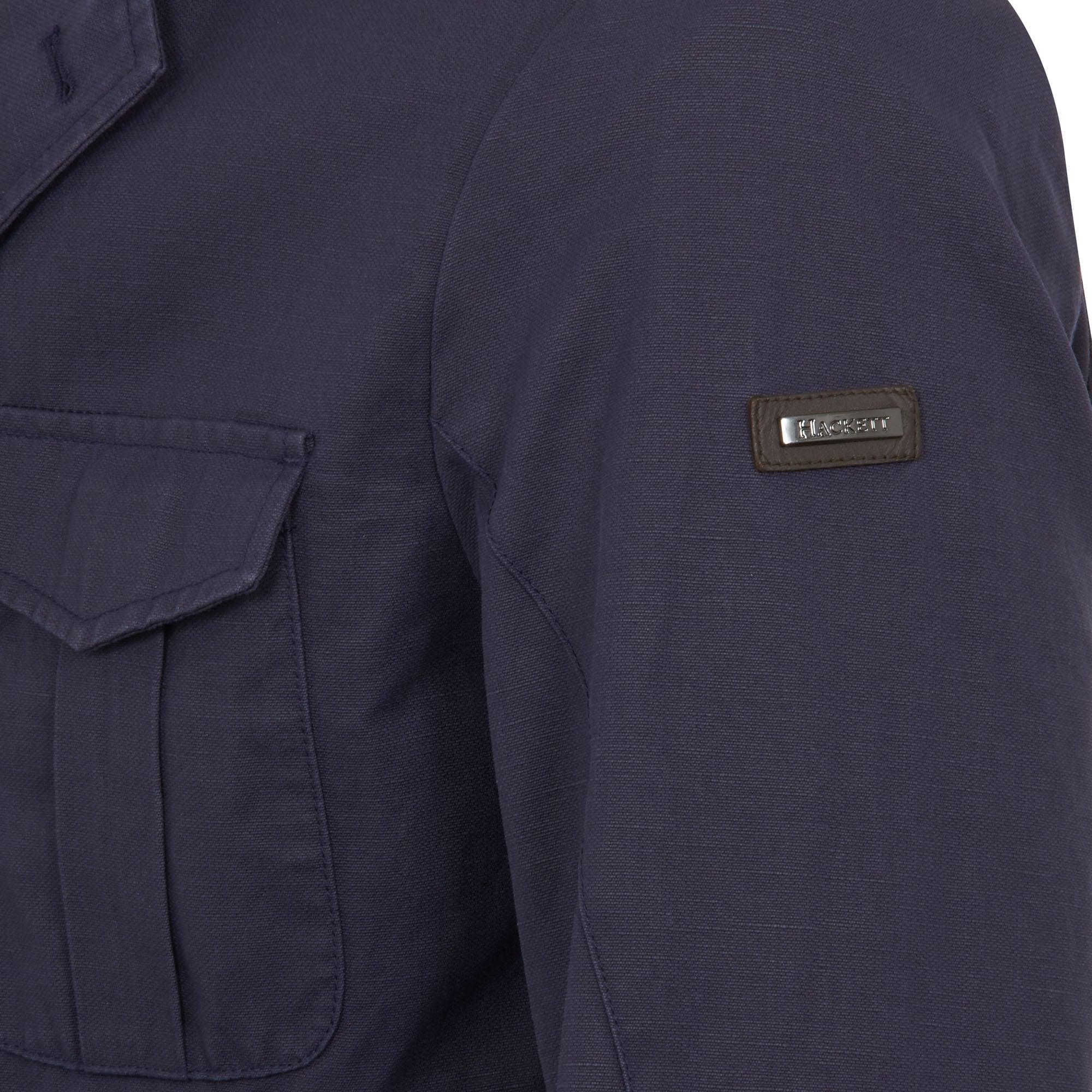Hackett Cotton Hackett Safari Navy Summer Blazer Jacket in Blue for Men