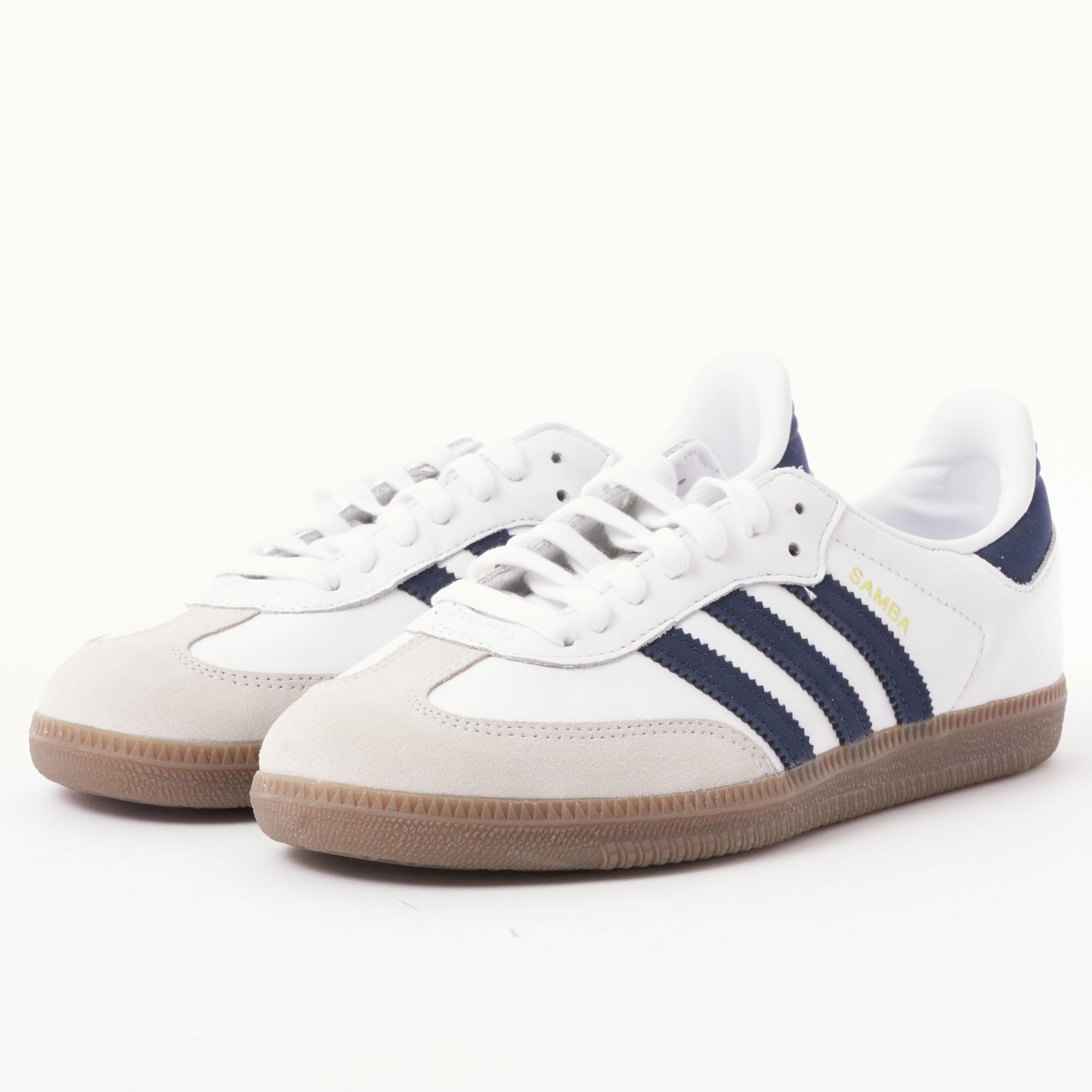 adidas Originals Samba Og - White   Navy in White for Men - Lyst 0a4c09625