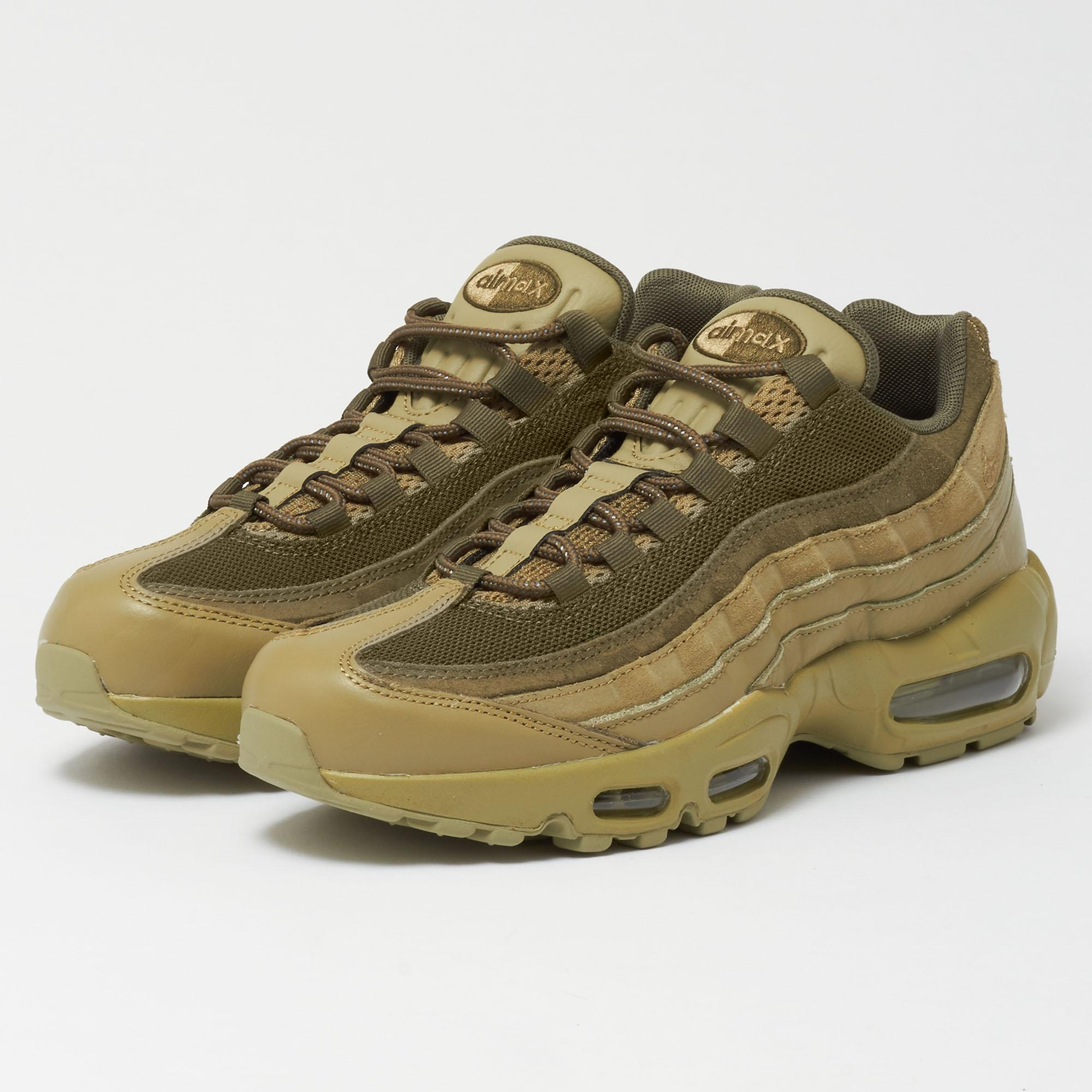 buy online 8dbd5 15387 Nike Leather Air Max 95 Prm - Neutral Olive in Green for Men ...