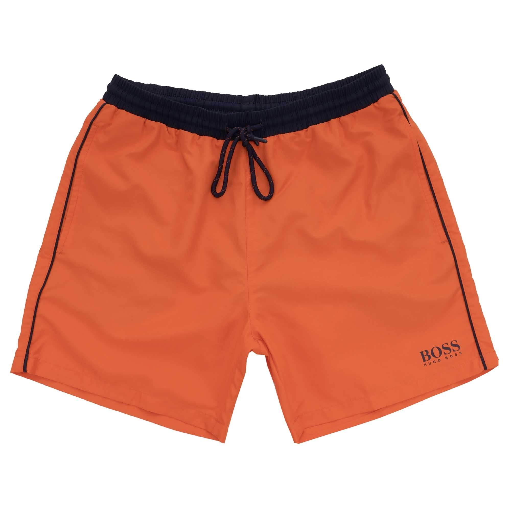 a937fbf9f6540 BOSS - Starfish Swim Shorts - Bright Orange for Men - Lyst. View fullscreen