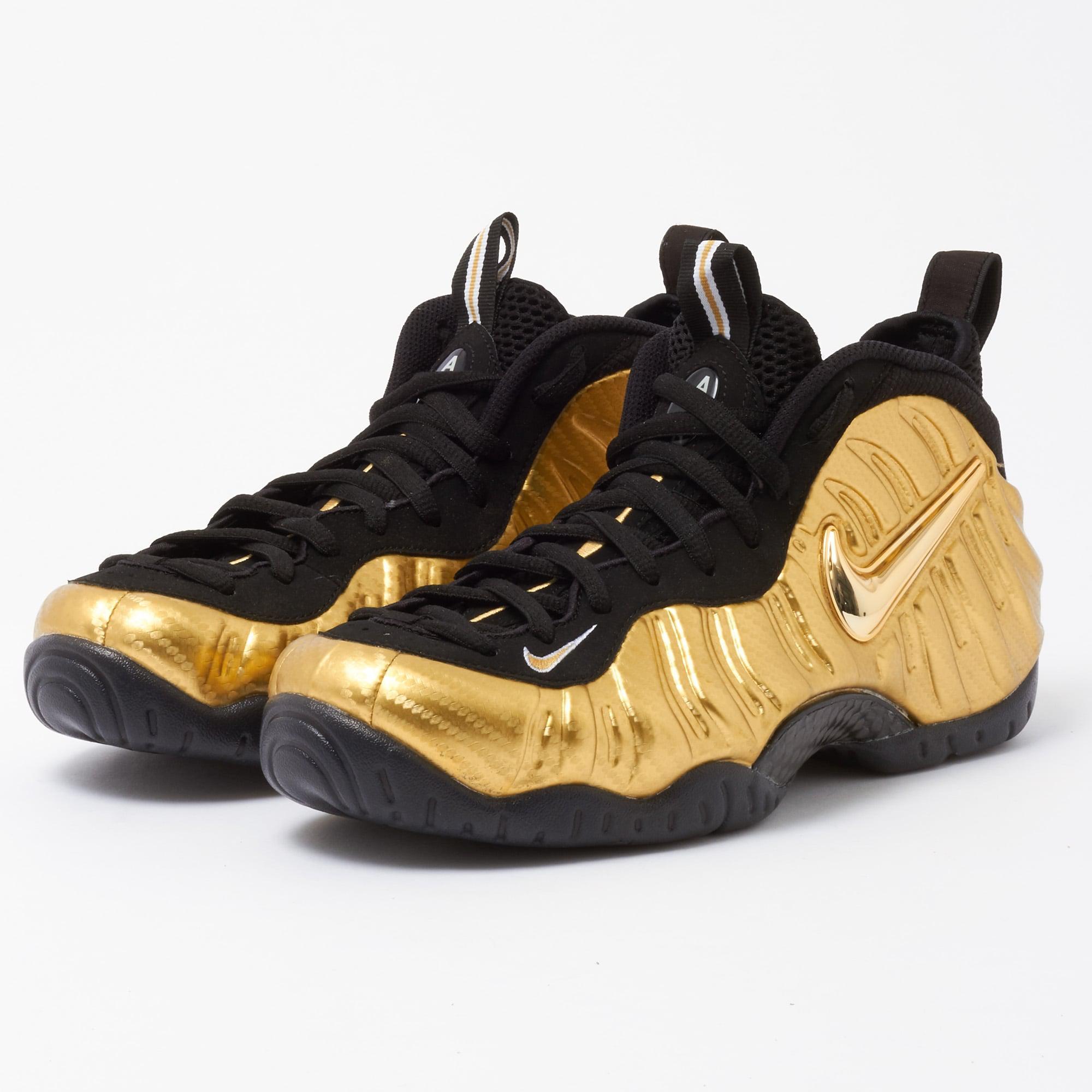 84c6cf52b9f99 Lyst - Nike Air Foamposite Pro - Metallic Gold   Black in Black for Men