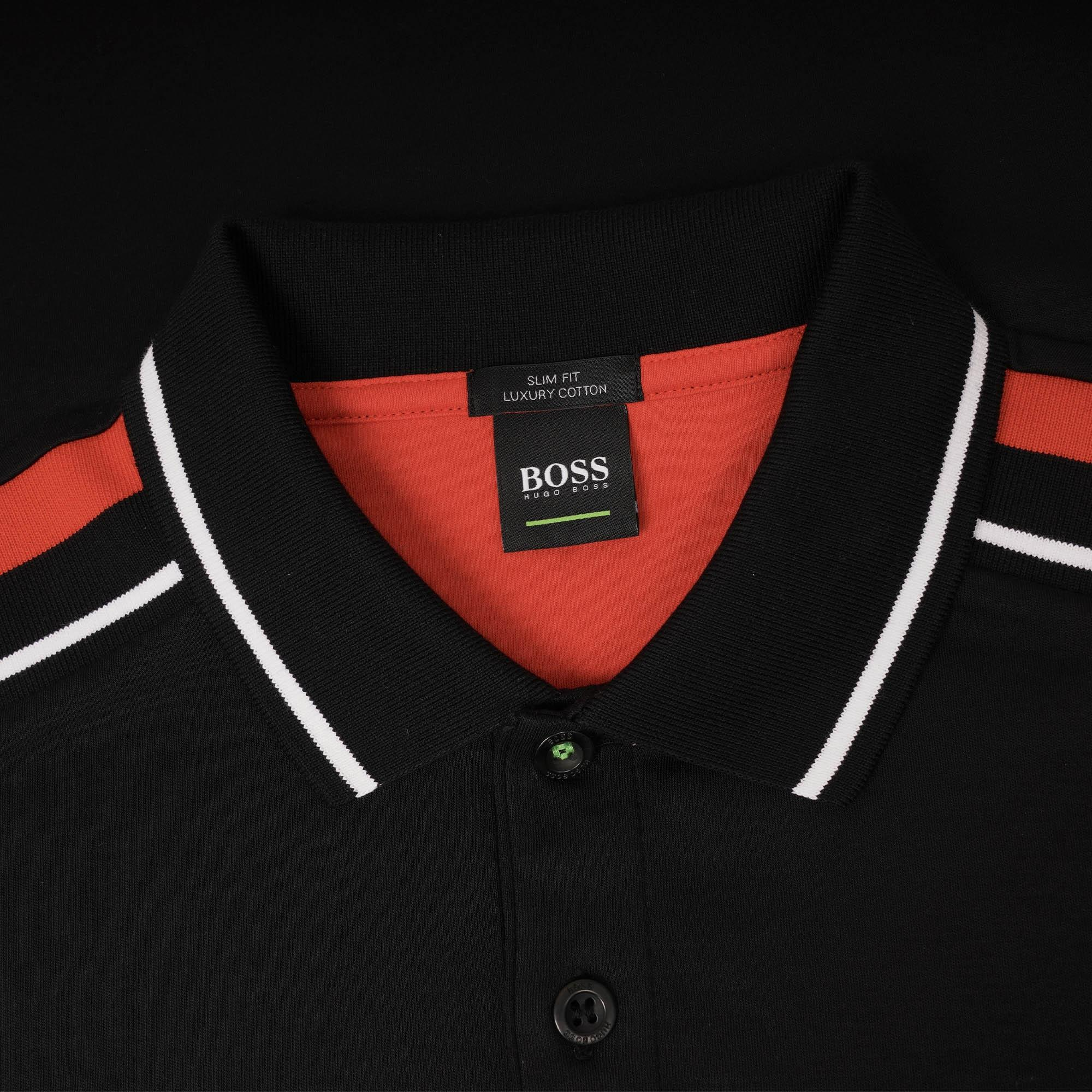 412a7a2c4 BOSS - Paule 1 Ss Colourblock Polo Shirt - Black for Men - Lyst. View  fullscreen