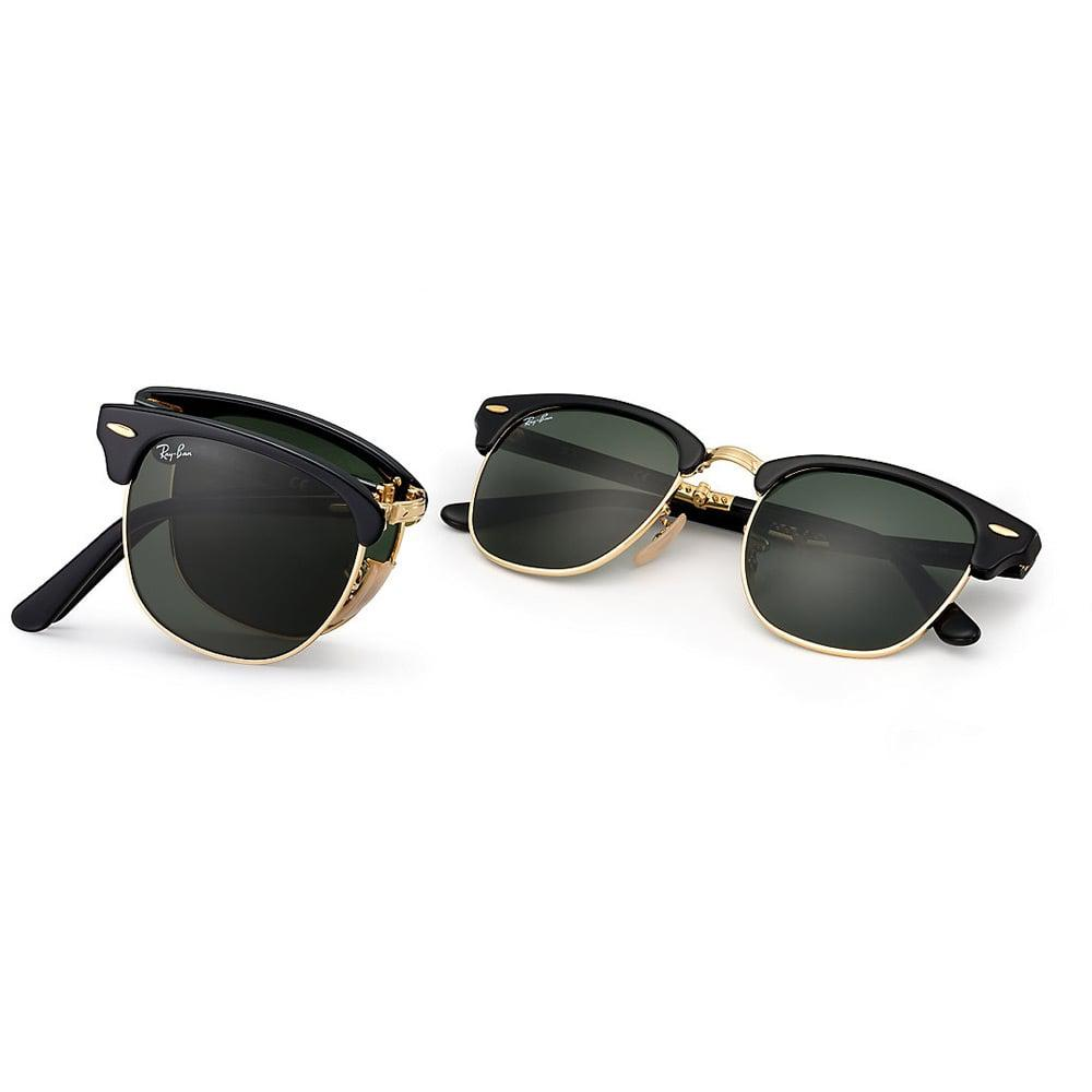 6332f73d83 Ray-Ban - Black Clubmaster Foldable Sunglasses - Classic G15 Lenses for Men  - Lyst. View fullscreen