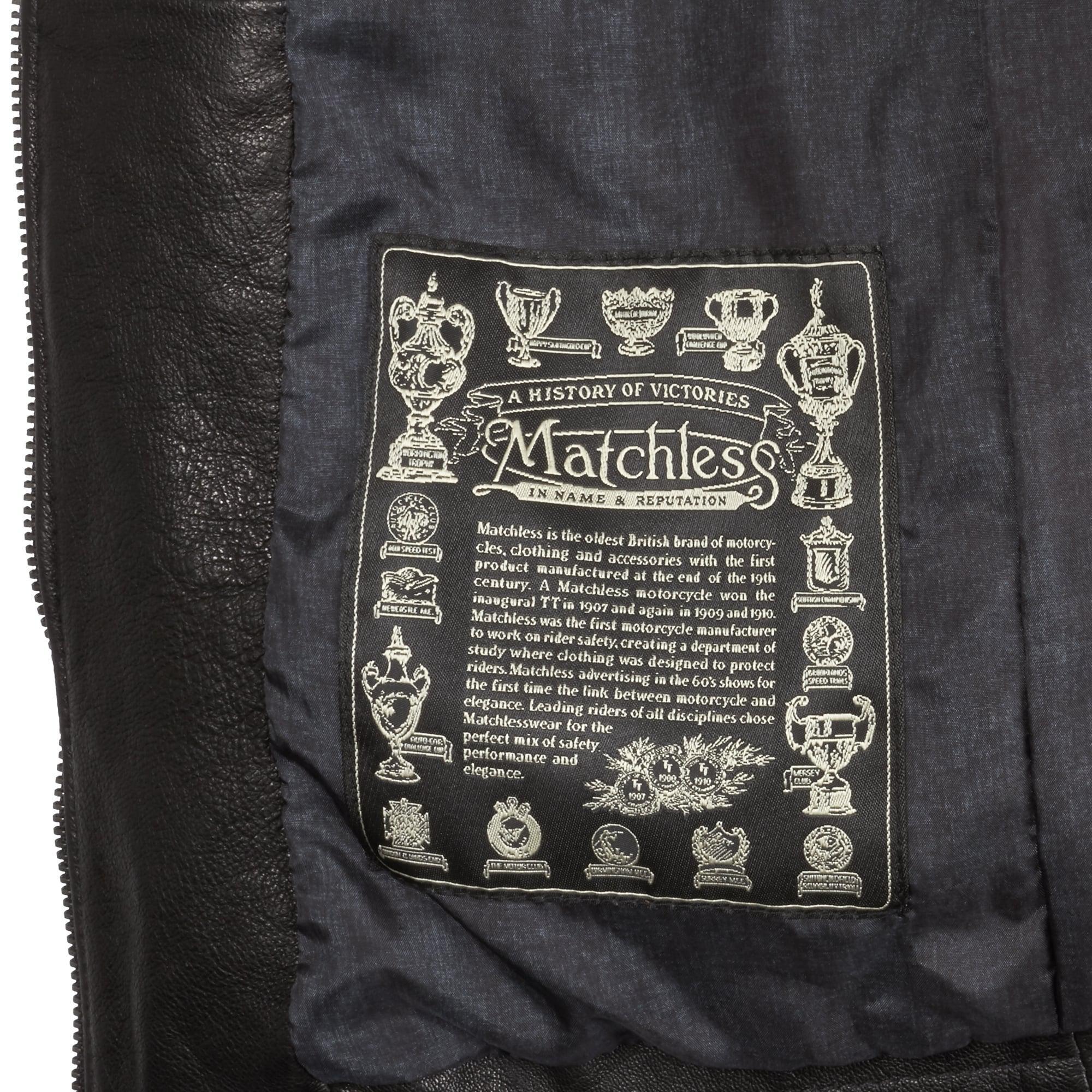 Matchless Black Craig Nappa Leather Blousen Jacket for Men