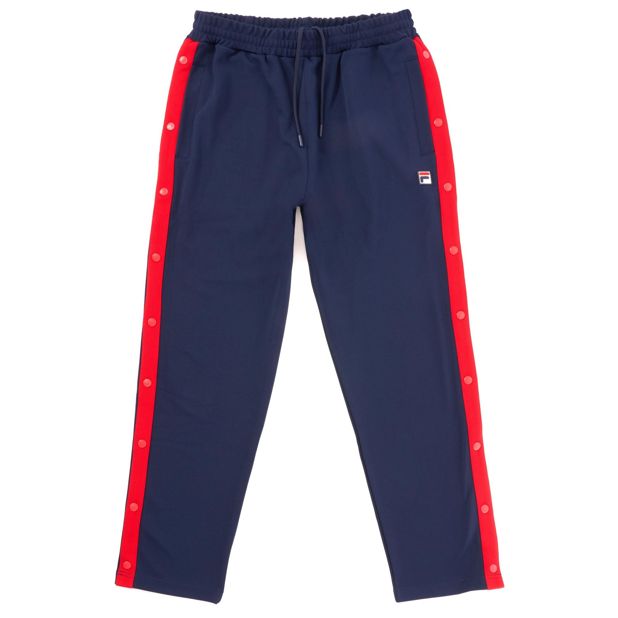 16cd9673d04a2 Lyst - Fila Vintage Friars Tearaway Track Pants - Peacoat & Red in ...
