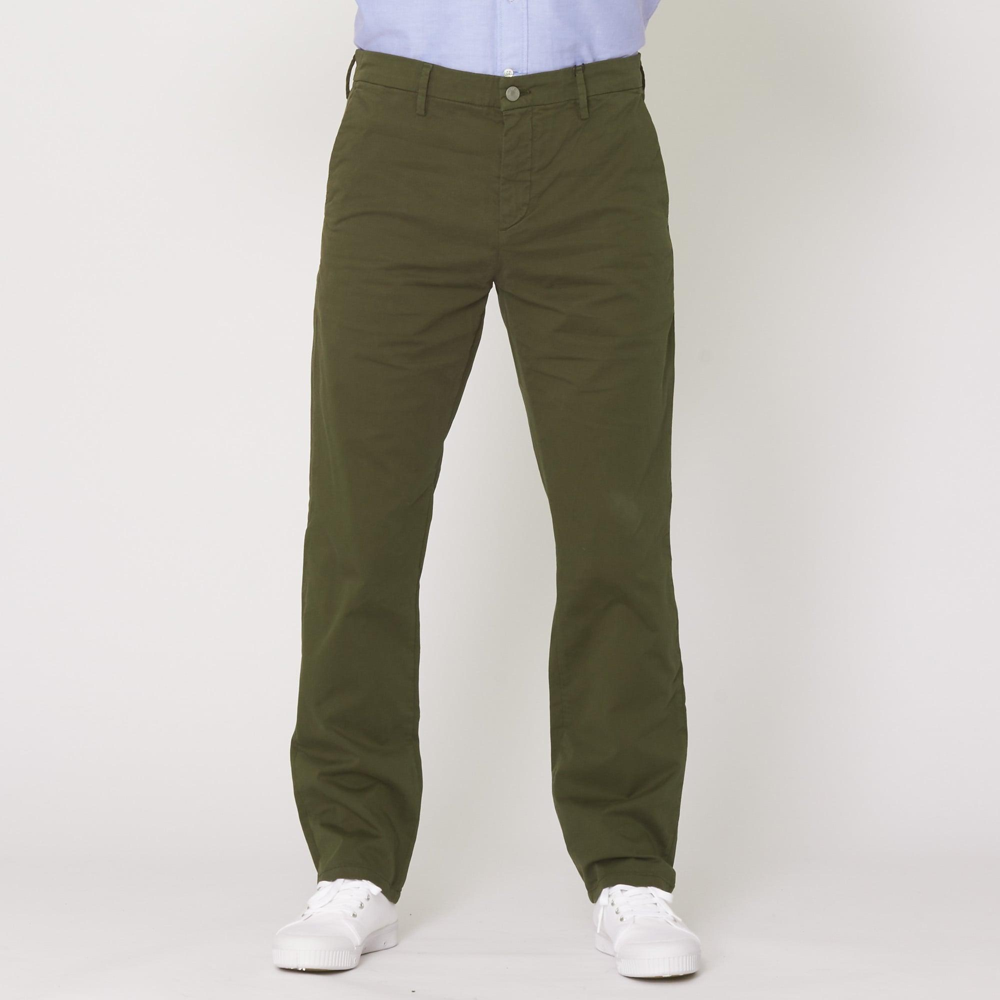 NN07 Cotton Dark Army Fred Trousers 1004-315 in Green for Men