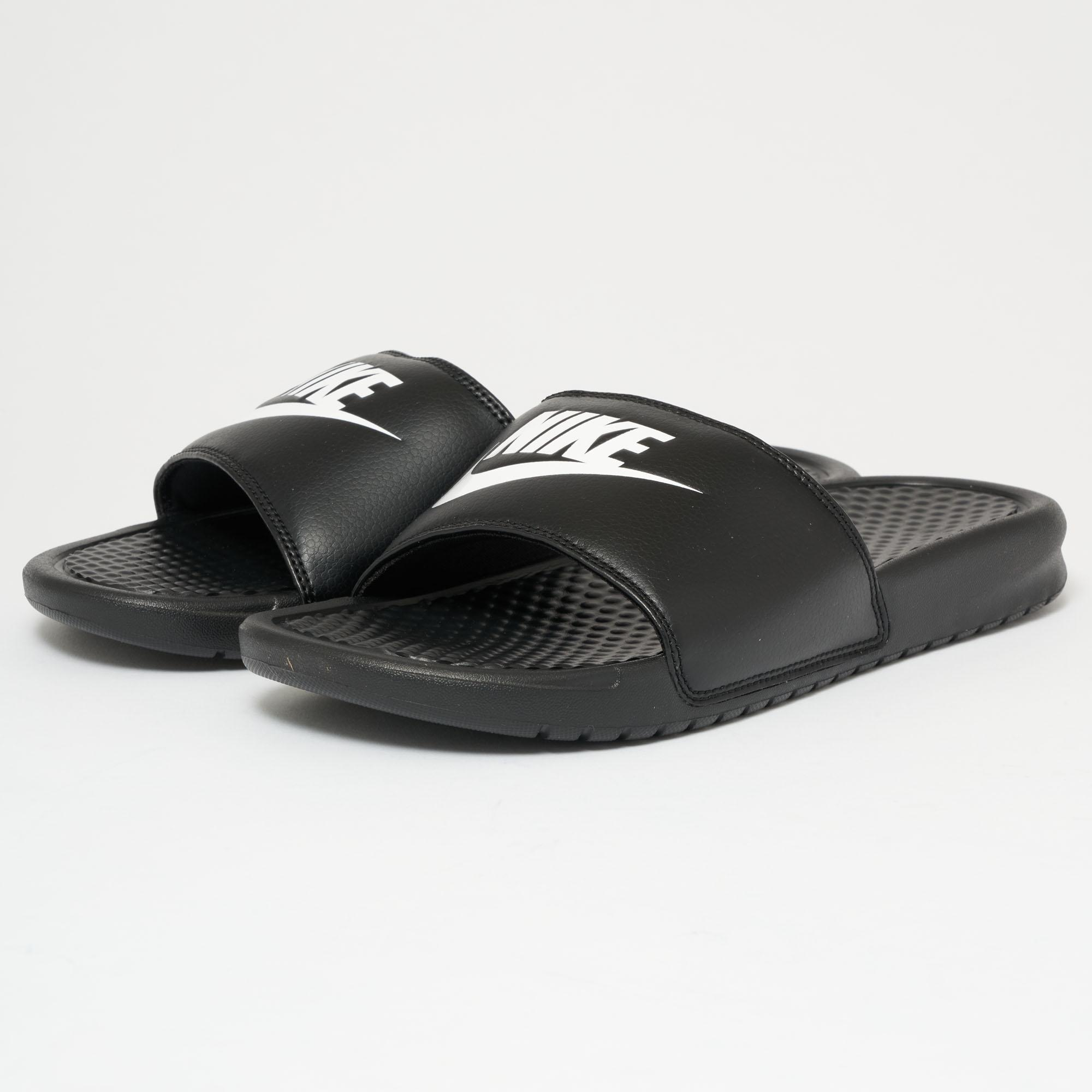 95f8afcbbdd8 Nike - Benassi Jdi Slides - Black   White - Lyst. View fullscreen