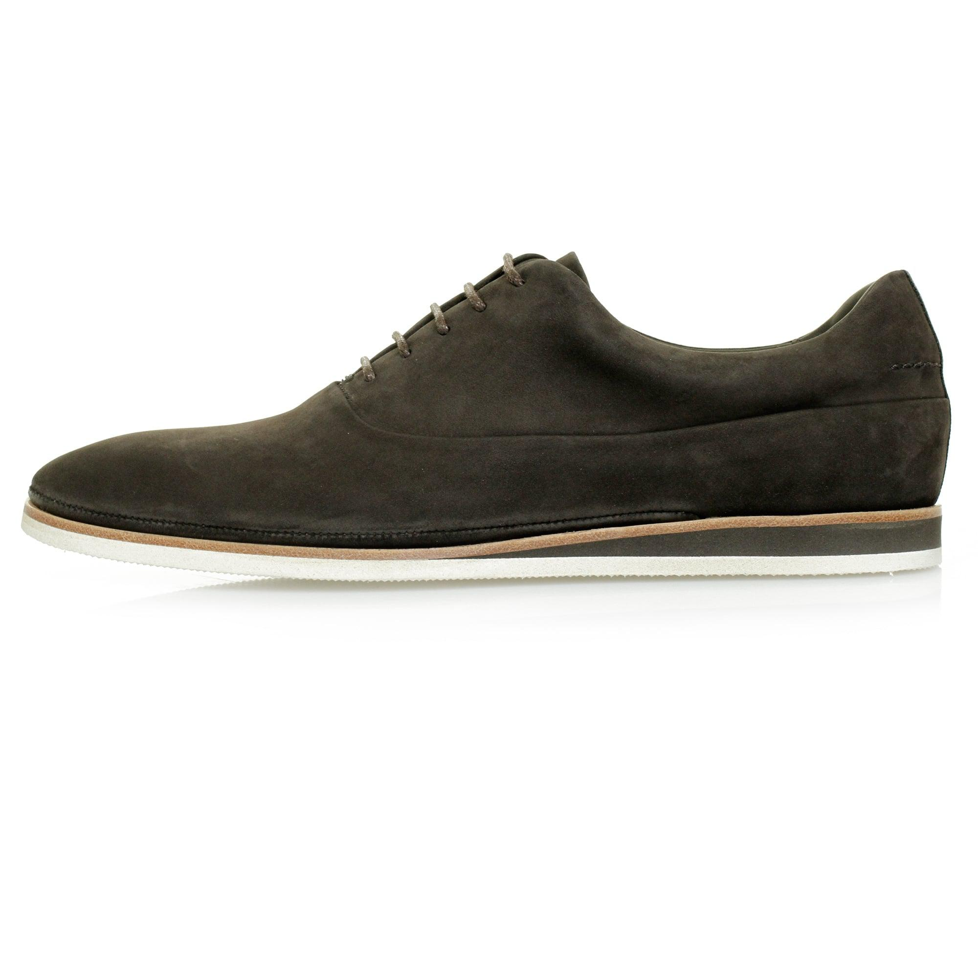 Casual Oxford shoes in soft nubuck BOSS 3ciToozkh