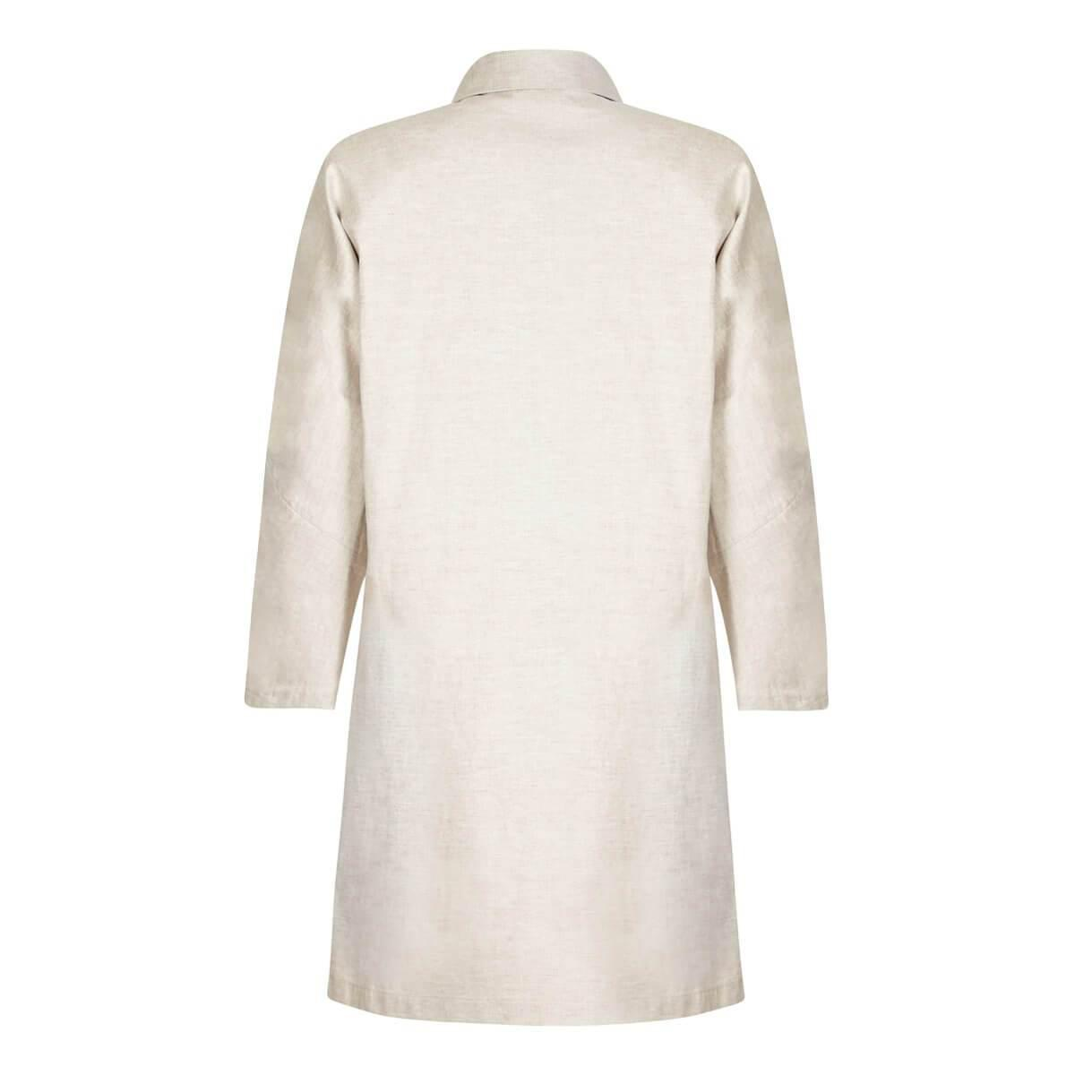 efe1342cc3 Mackintosh Off-white Linen Overcoat With Gold Buttons in White - Lyst