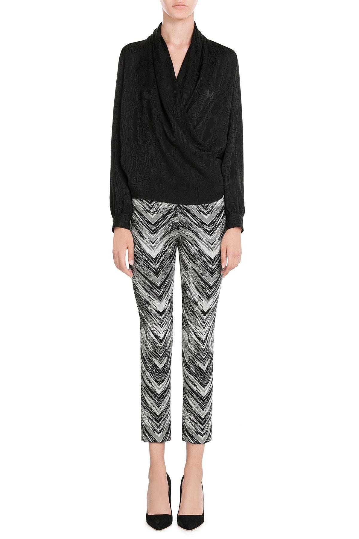 Missoni Cropped Knit Trousers in Black