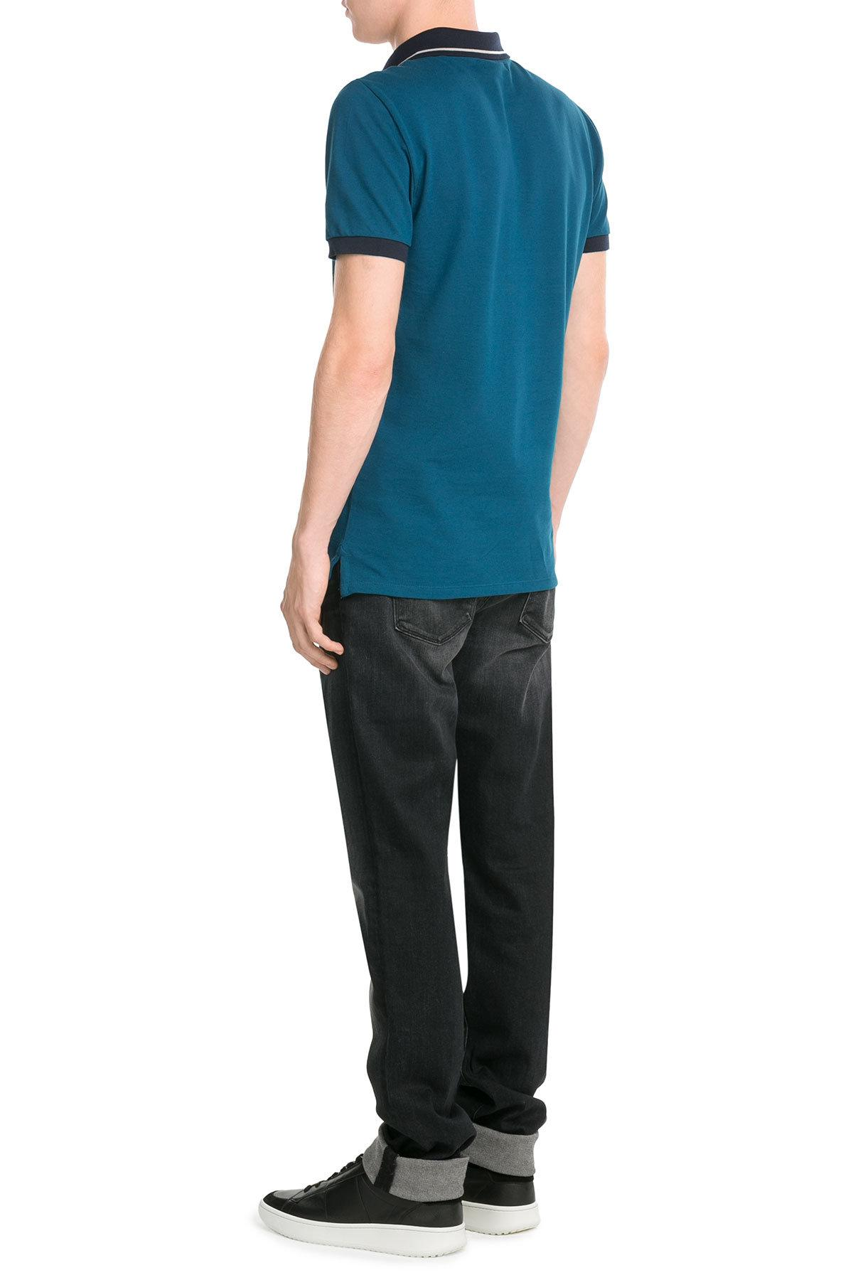 Lyst burberry cotton polo shirt in blue for men for Cotton polo shirts for men