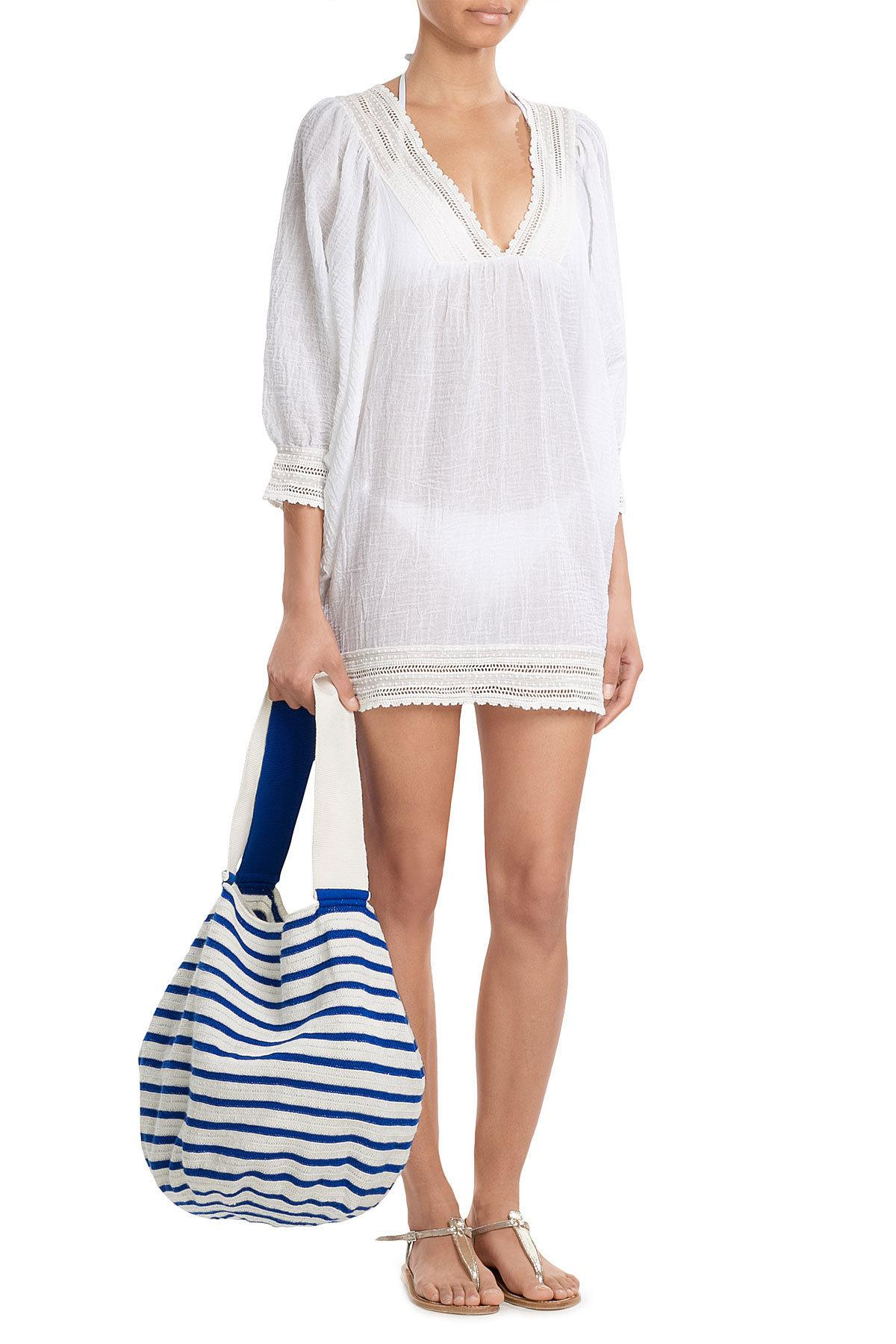 Sophie anderson Striped Cotton Tote in Blue