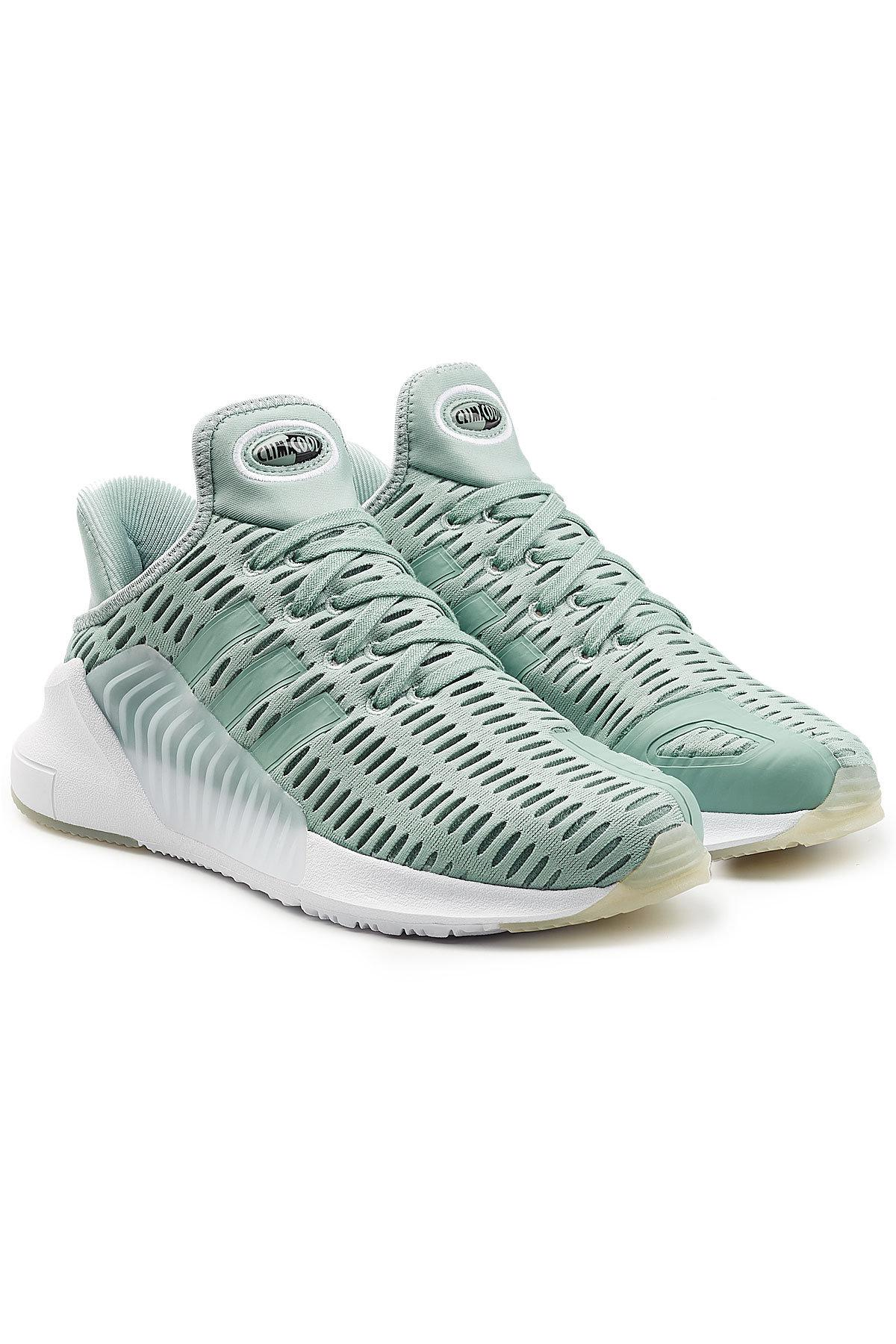 adidas Originals. Women's Blue Climacool 02/17 Sneakers With Mesh